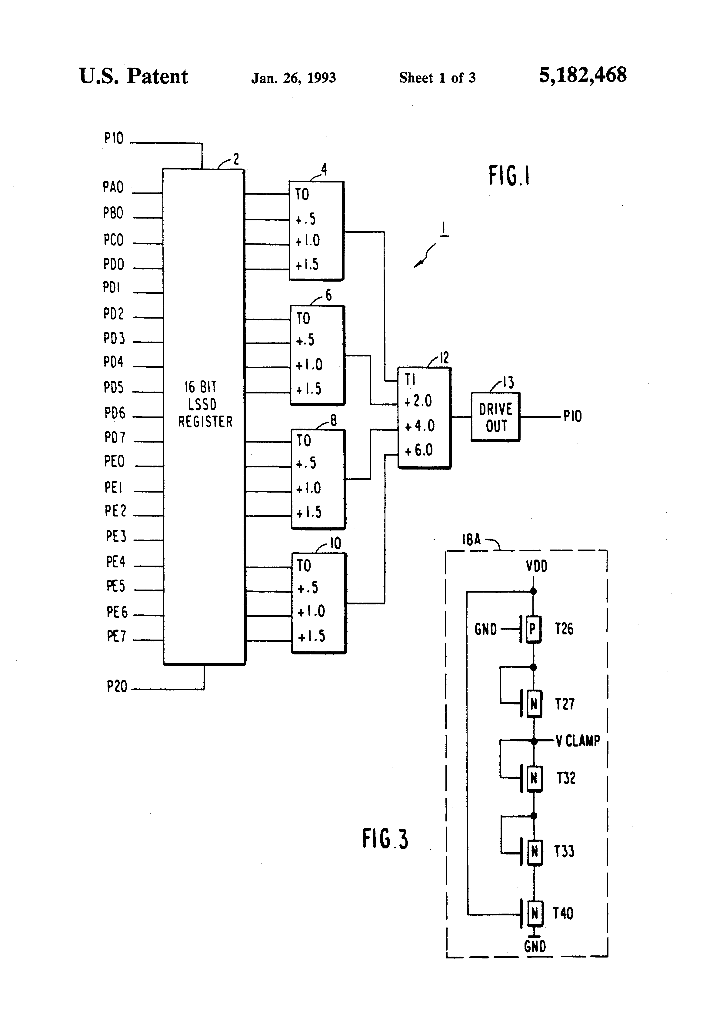 patent us5182468 - current limiting clamp circuit