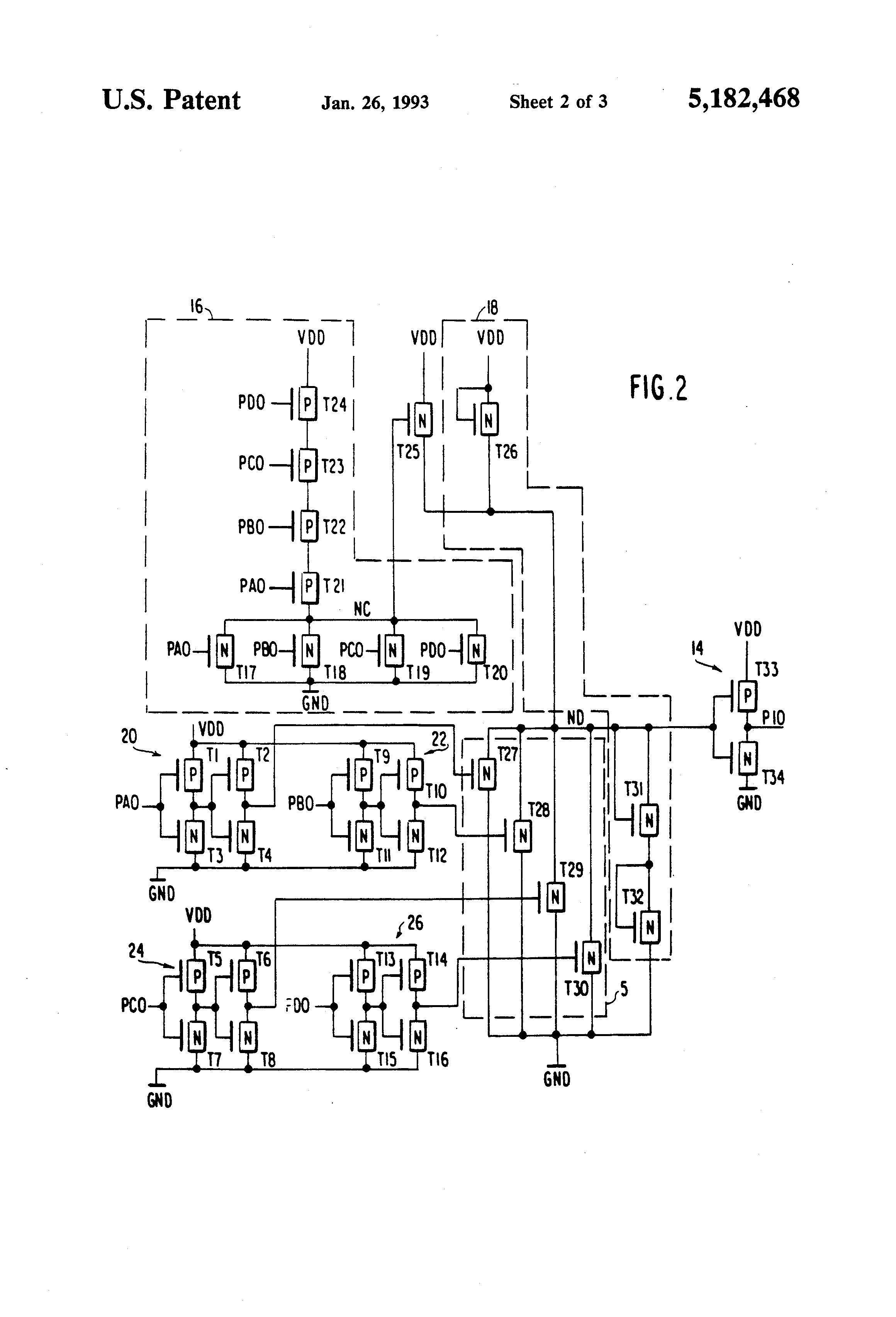 patent us5182468 - current limiting clamp circuit