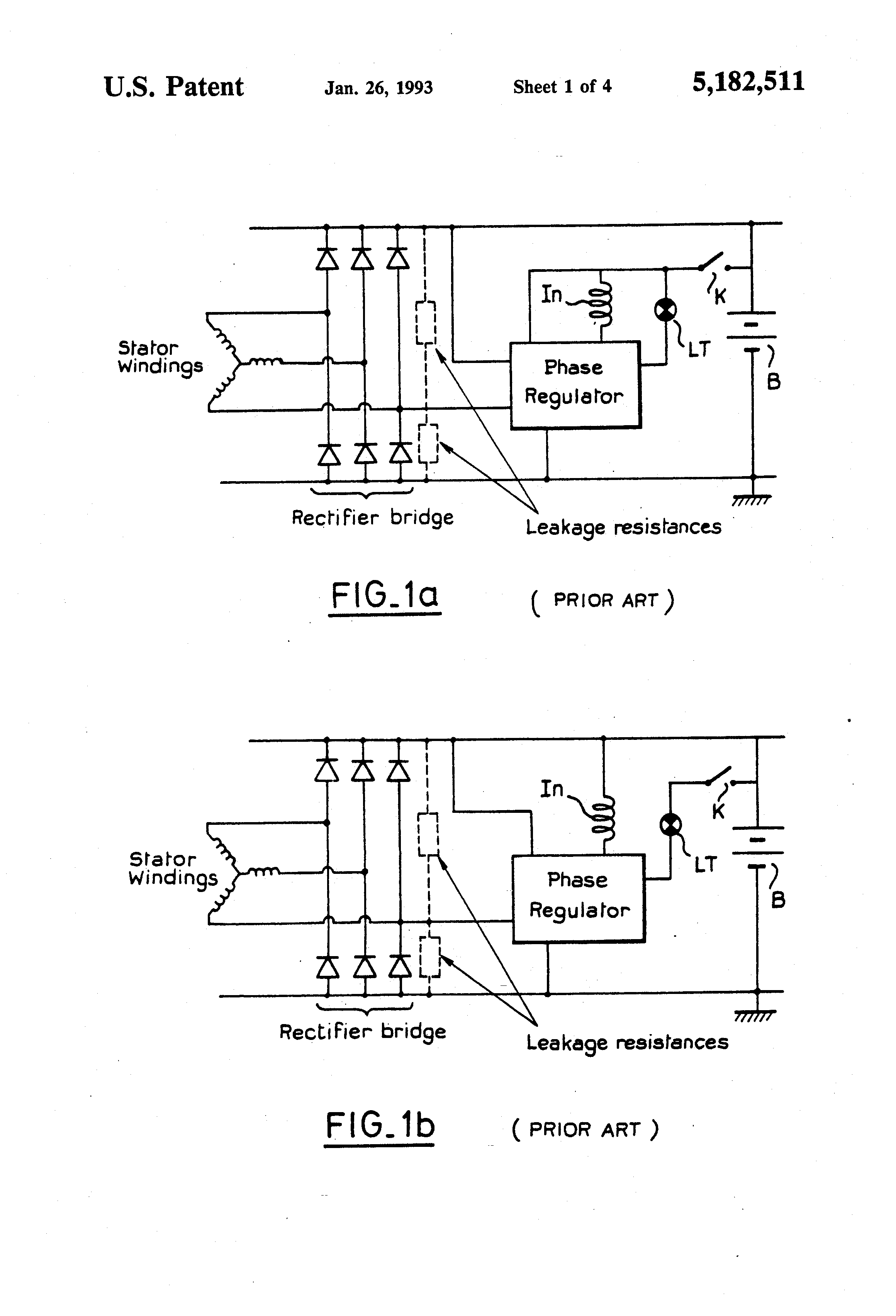 patent us5182511 detector circuit for detecting a phase signal ofPatent Us6707276 Voltage Regulator Of Ac Generator Having Circuit #2