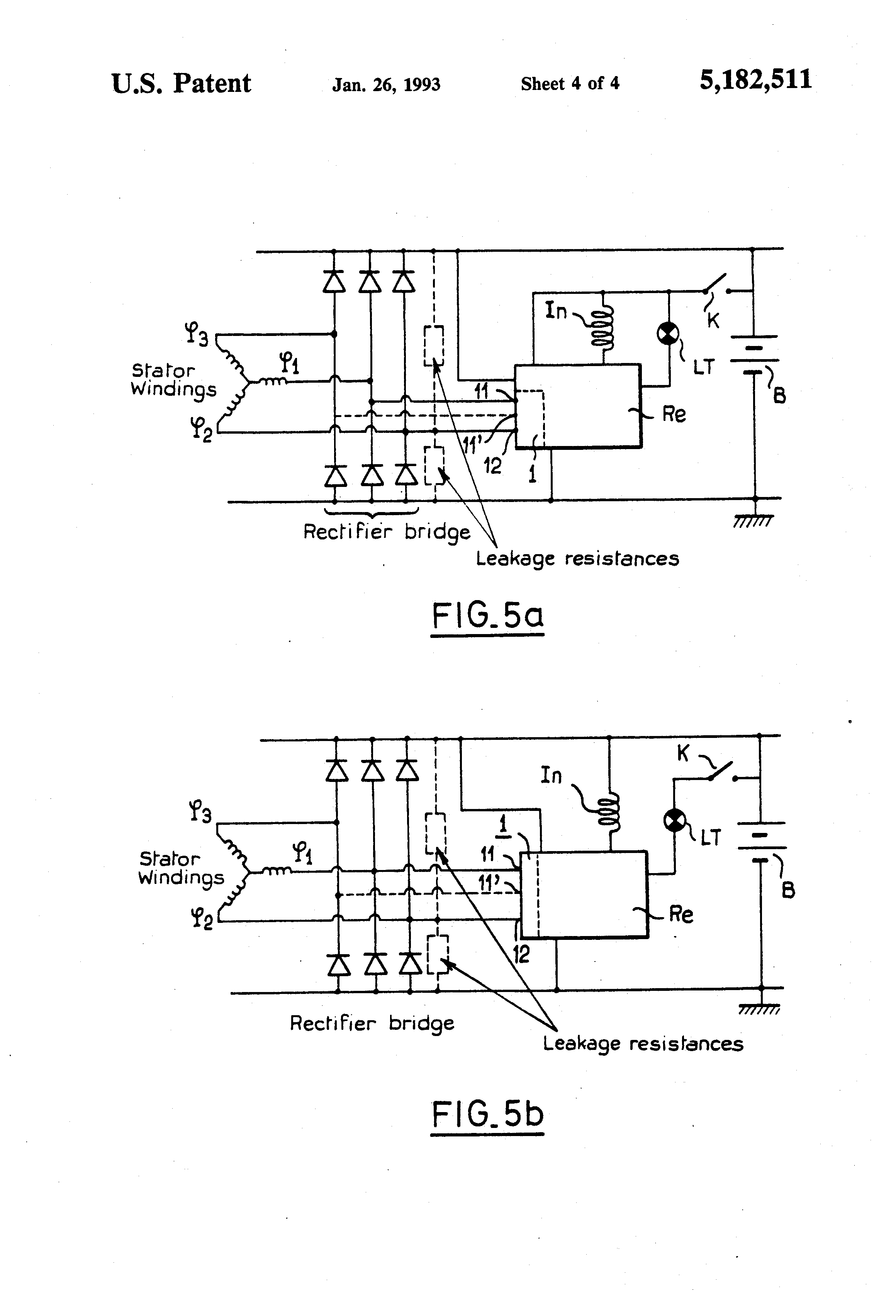 patent us5182511 detector circuit for detecting a phase signal ofPatent Us6707276 Voltage Regulator Of Ac Generator Having Circuit #1
