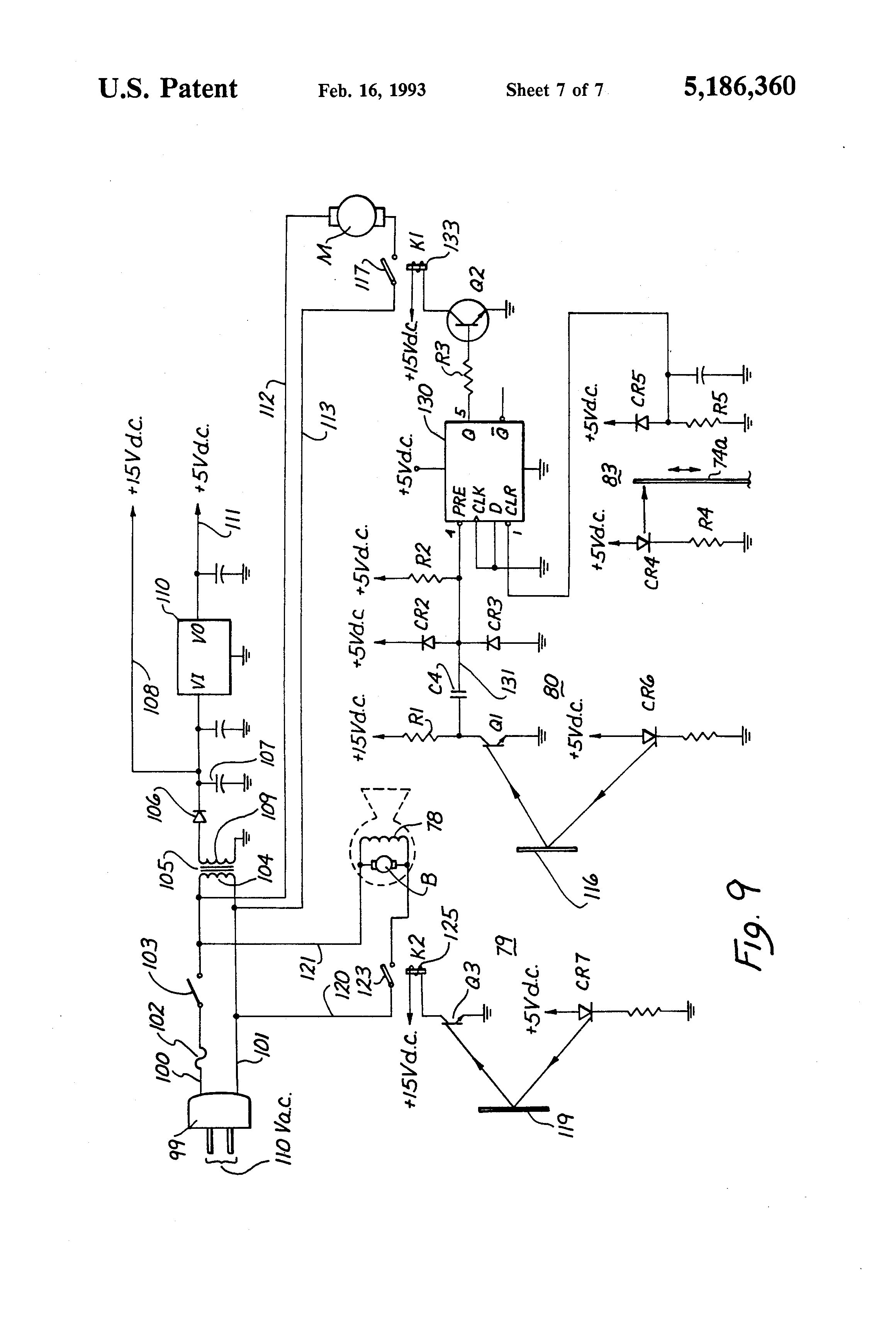 patent us5186360 - automatic soap dispenser and hand dryer unit