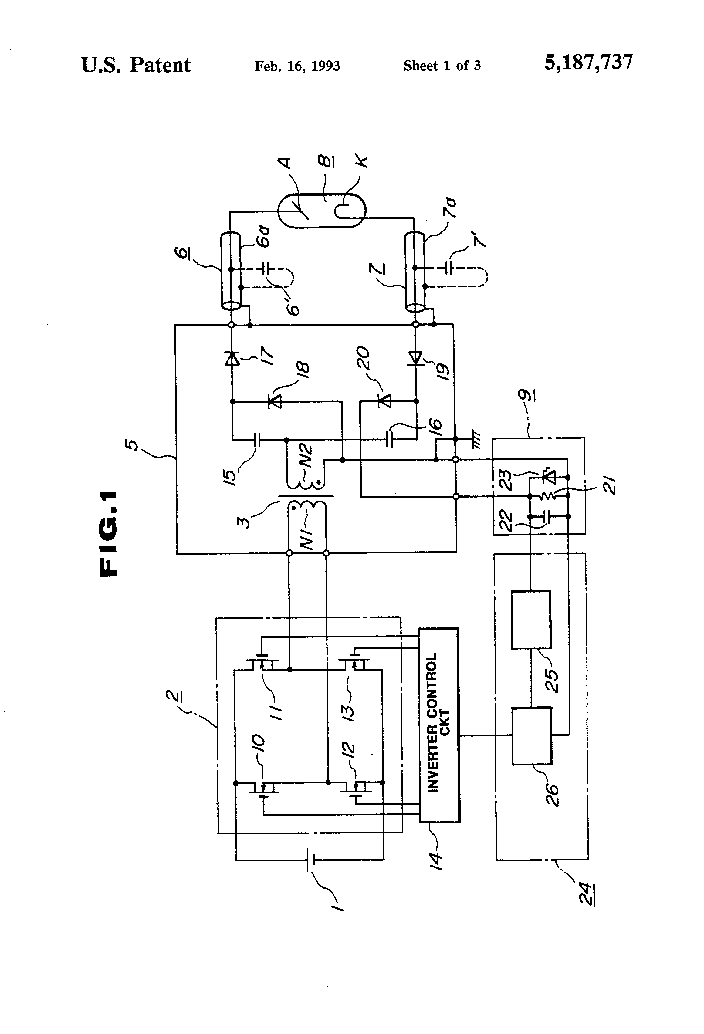 X Ray Circuit Diagram | Patent Us5187737 Power Supply Device For X Ray Tube Google Patents