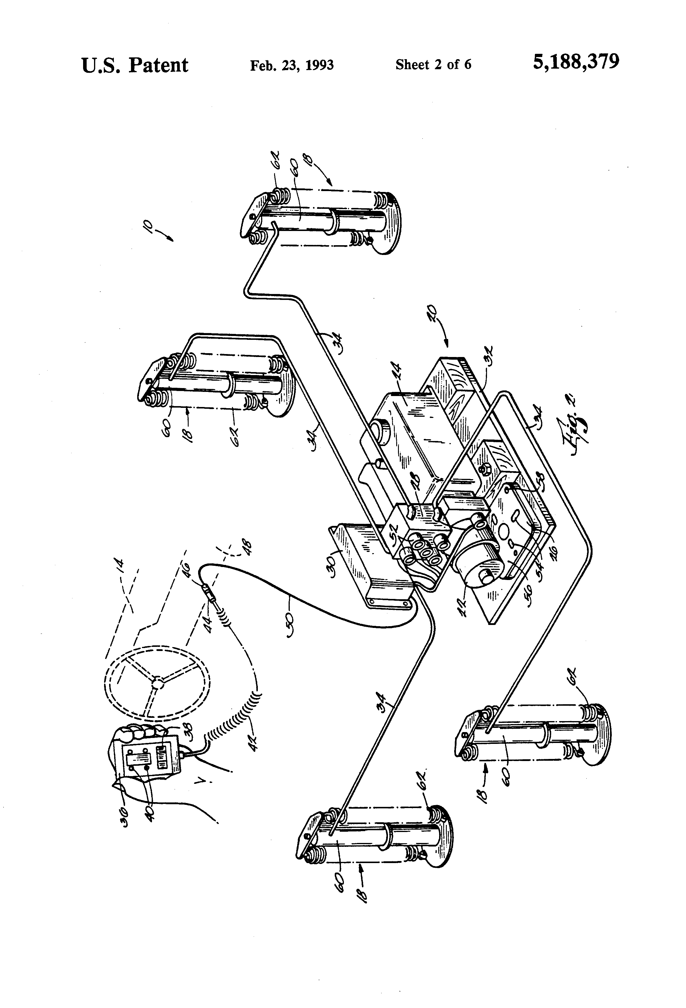 US5188379 2 patent us5188379 automatic leveling system for recreational kwikee level best wiring schematic at aneh.co