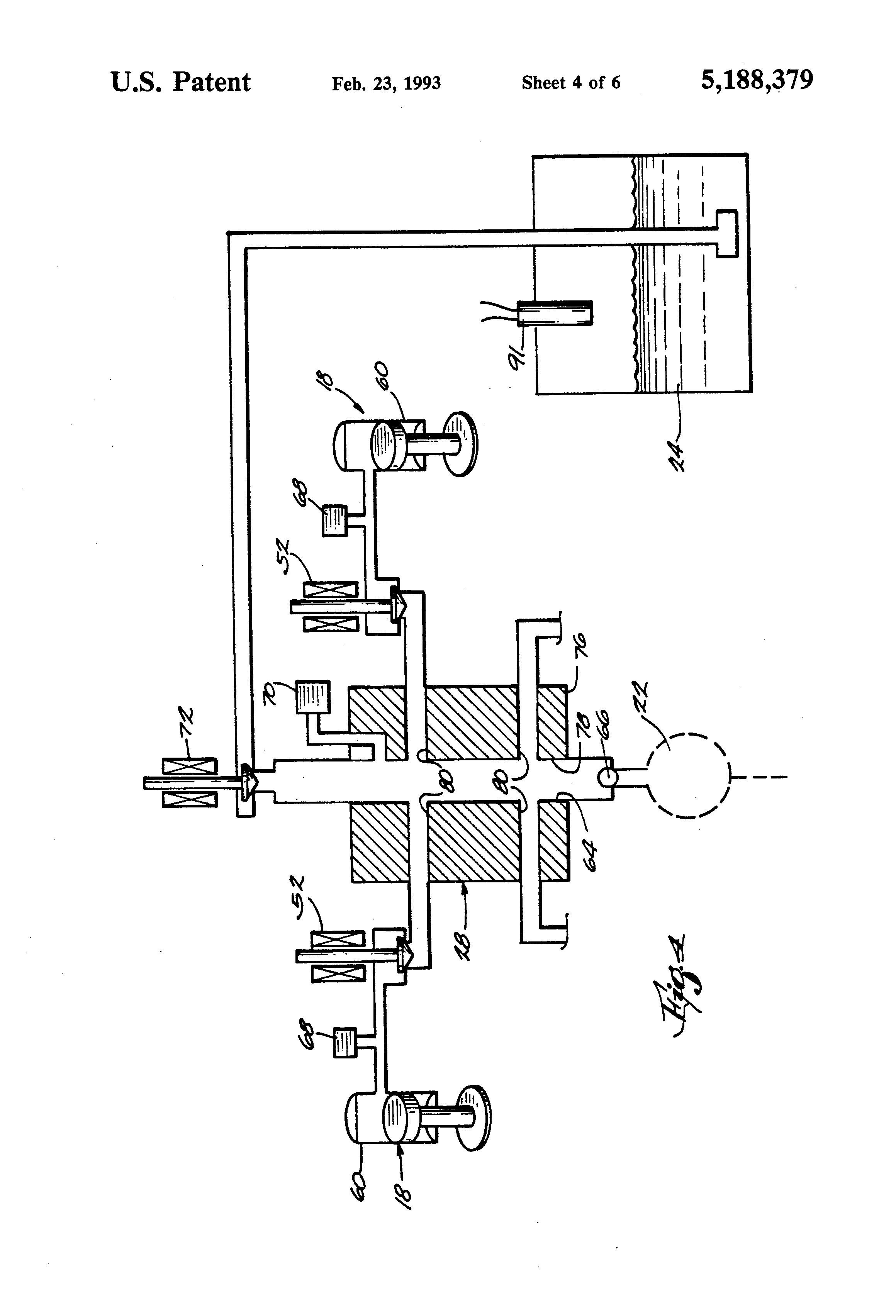 US5188379 4 patent us5188379 automatic leveling system for recreational GMC Truck Wiring Diagrams at eliteediting.co