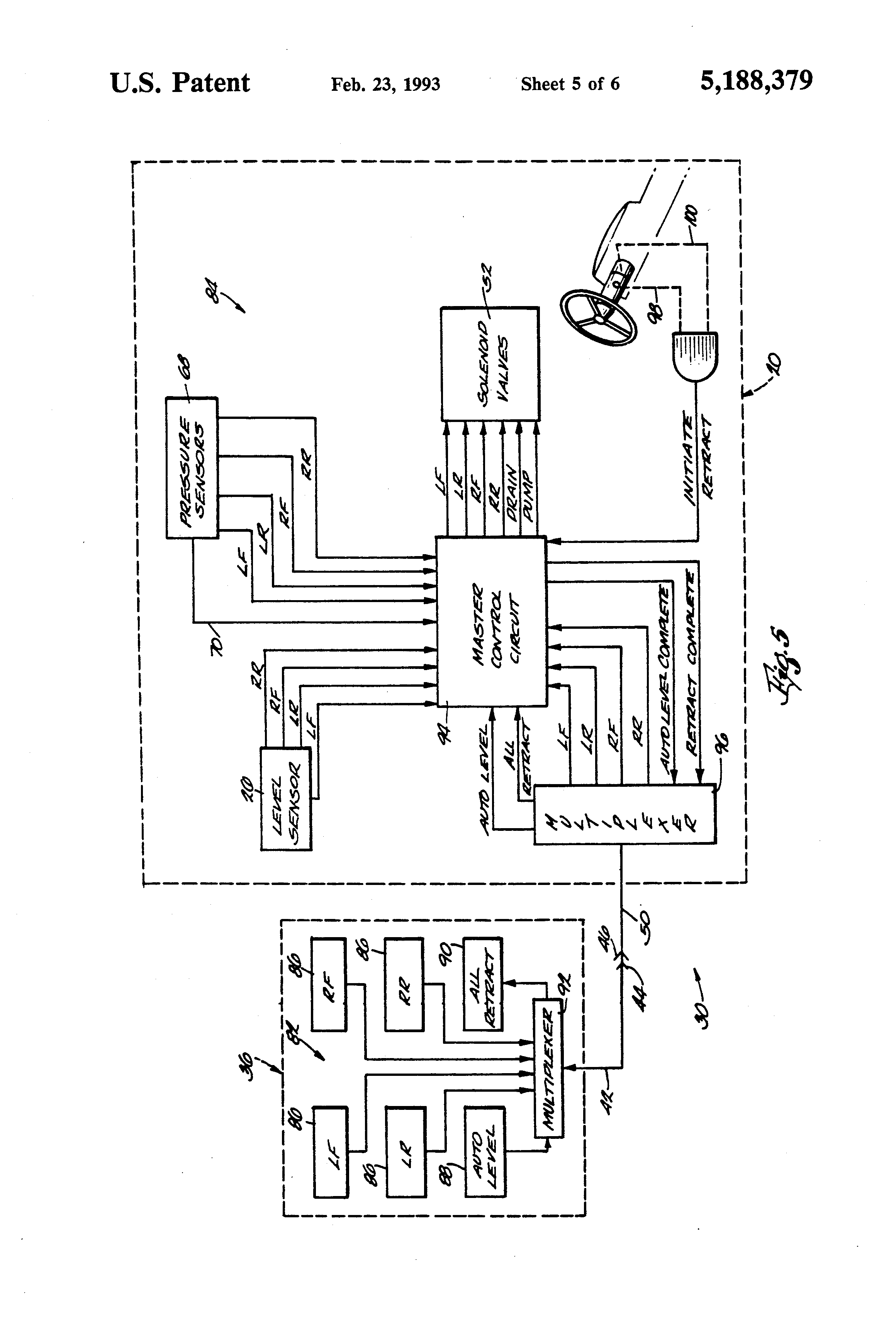 US5188379 5 patent us5188379 automatic leveling system for recreational kwikee level best wiring schematic at aneh.co