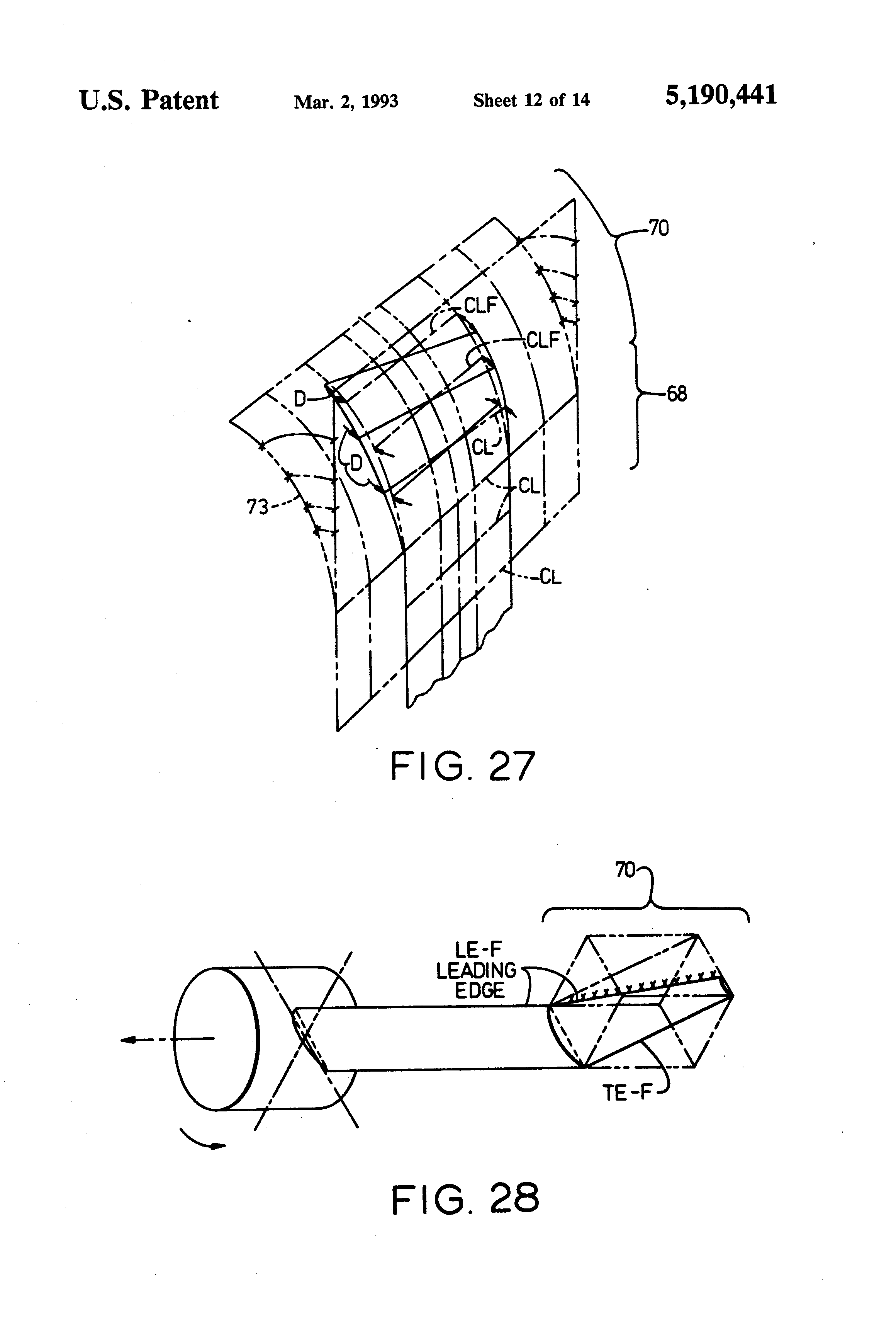 patent us5190441 noise reduction in aircraft propellers google