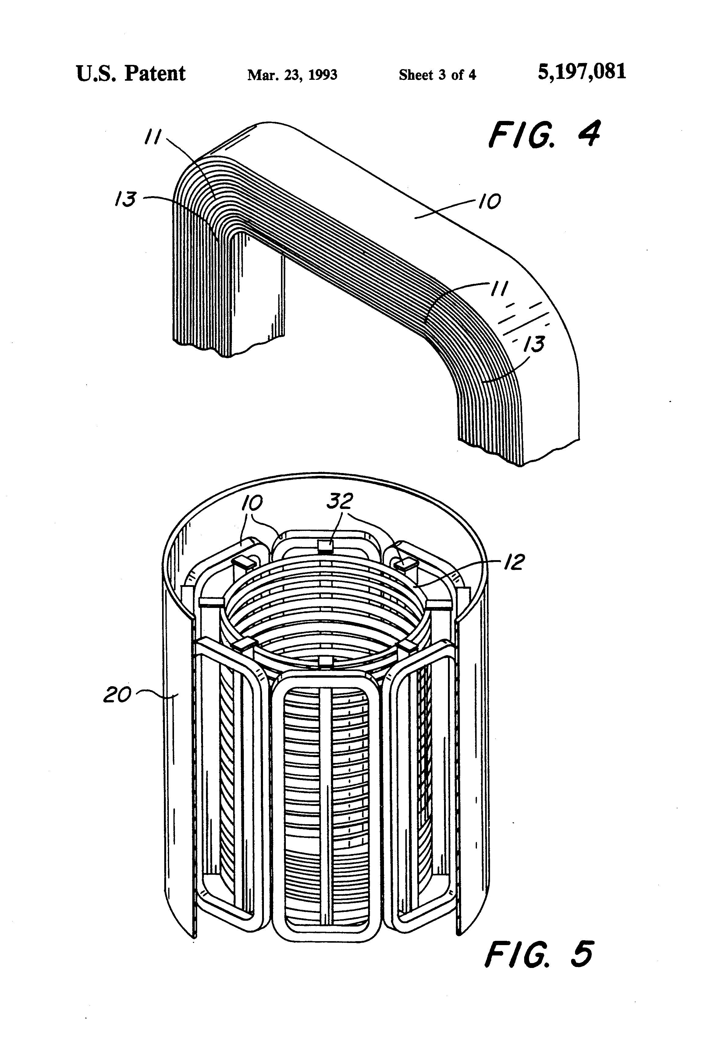 patent us5197081 - magnetic return apparatus for coreless induction furnaces