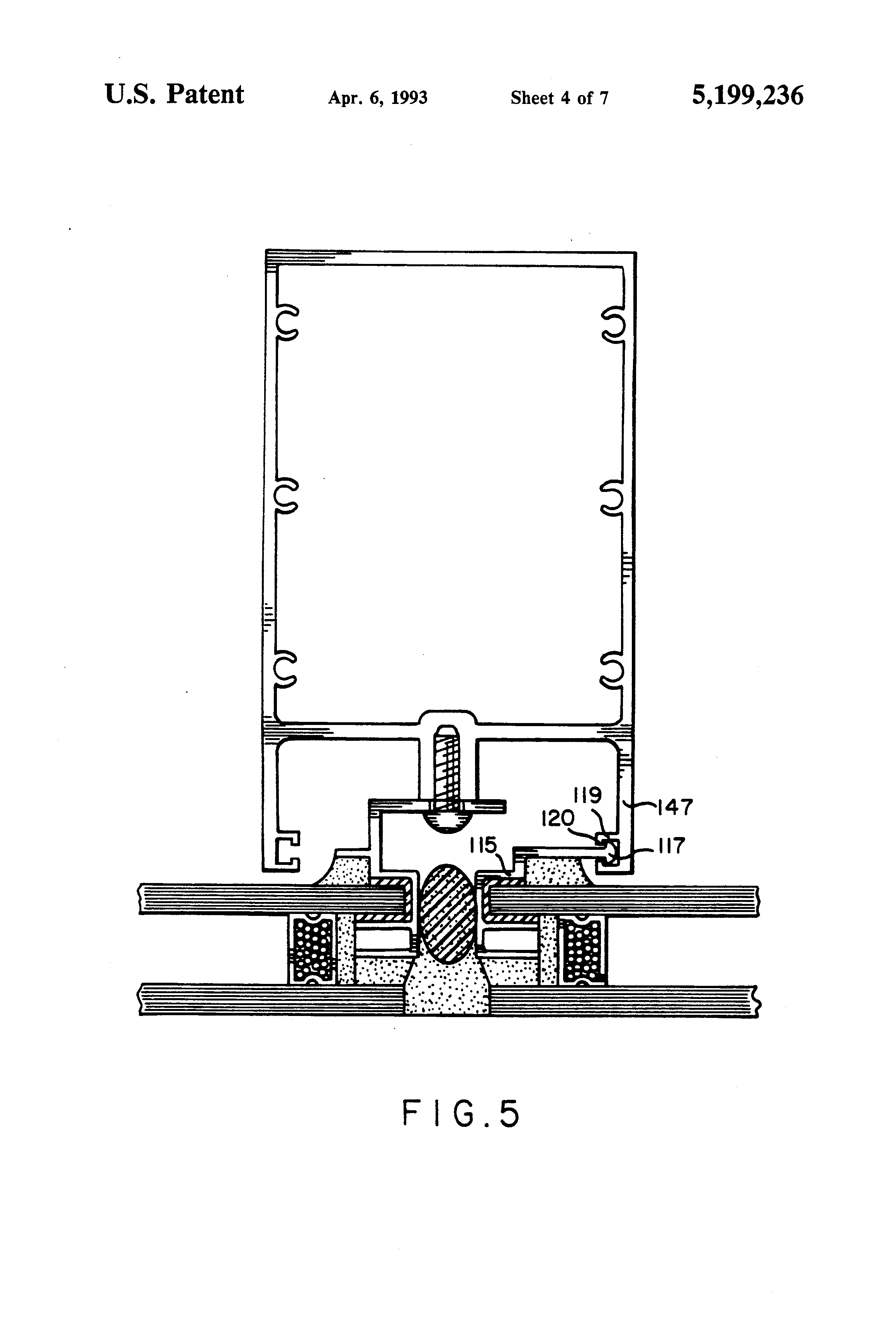 Insulated Glass Assembly : Patent us insulated glass flush outer surface