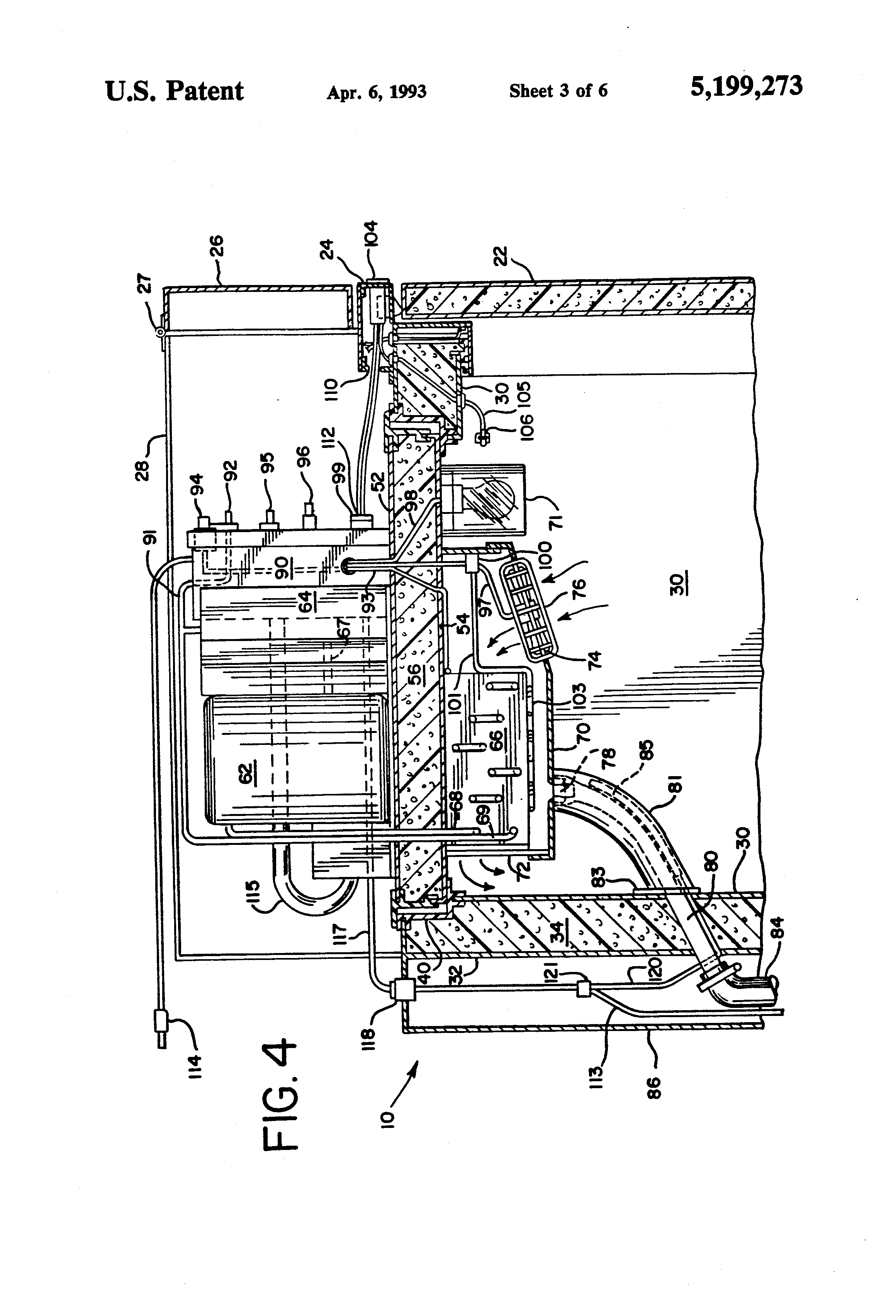 patent us5199273 reach in cooler interchangeable patent drawing