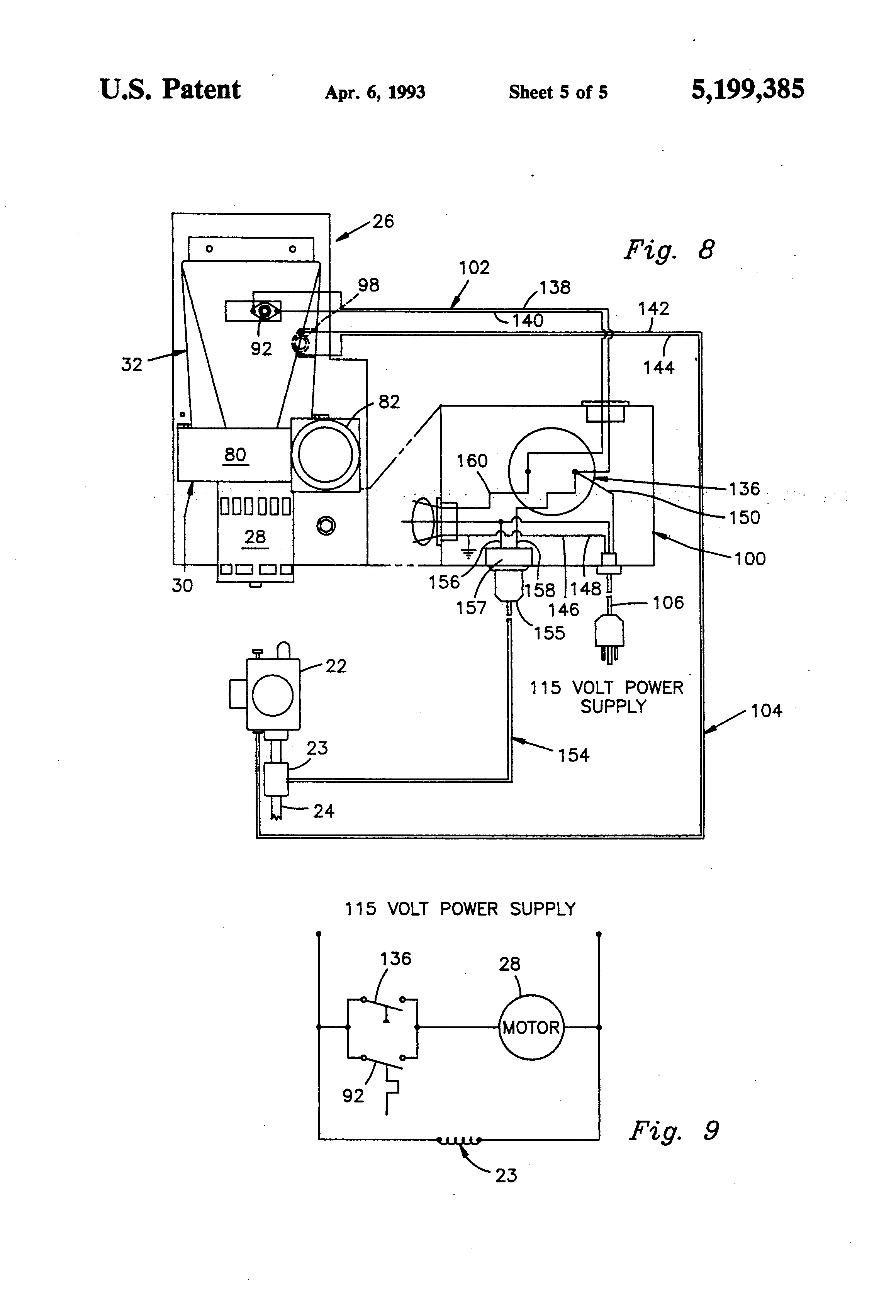 Patent Us5199385 Through The Wall Vented Water Heater