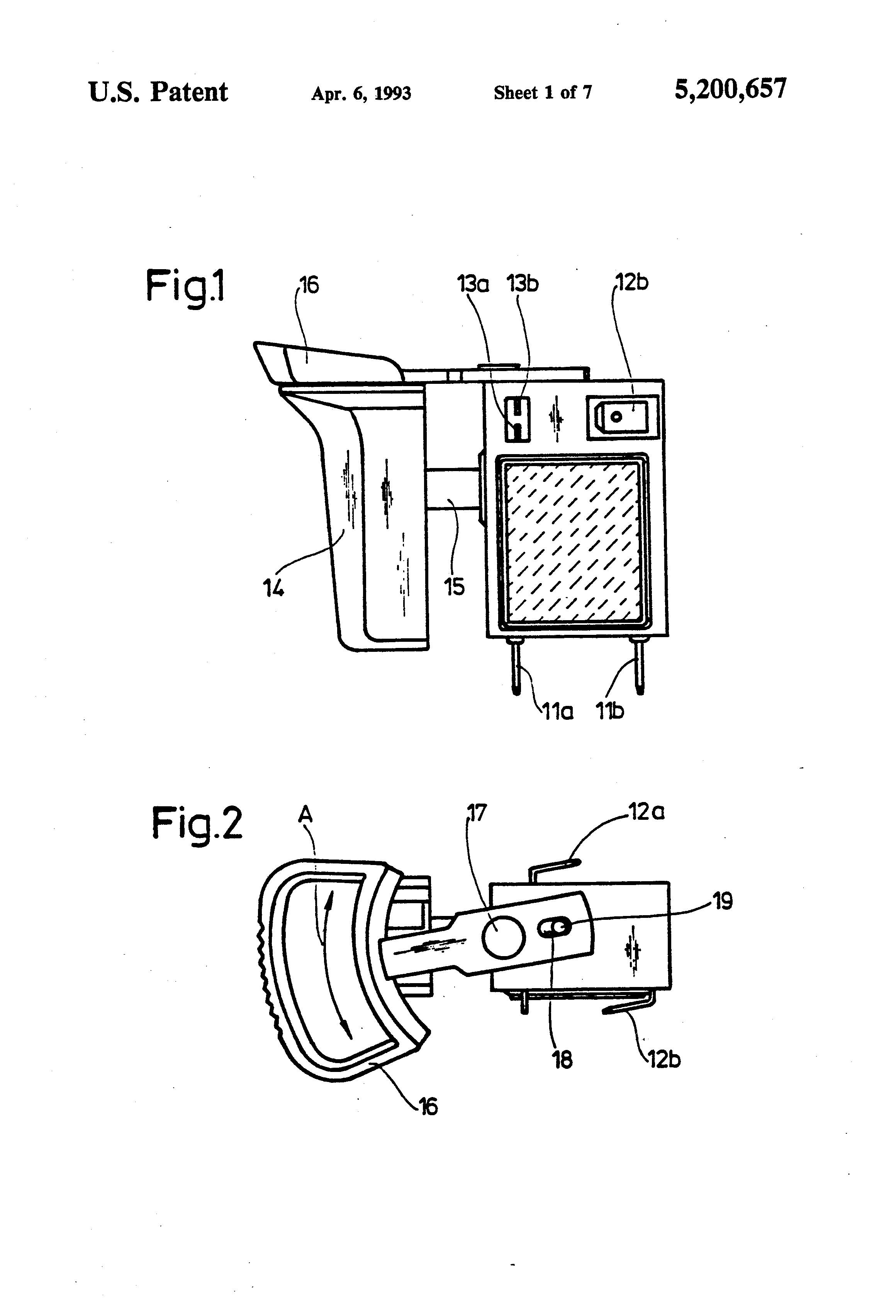 patent us5200657 apparatus for controlling or regulating equipment powered by batteries