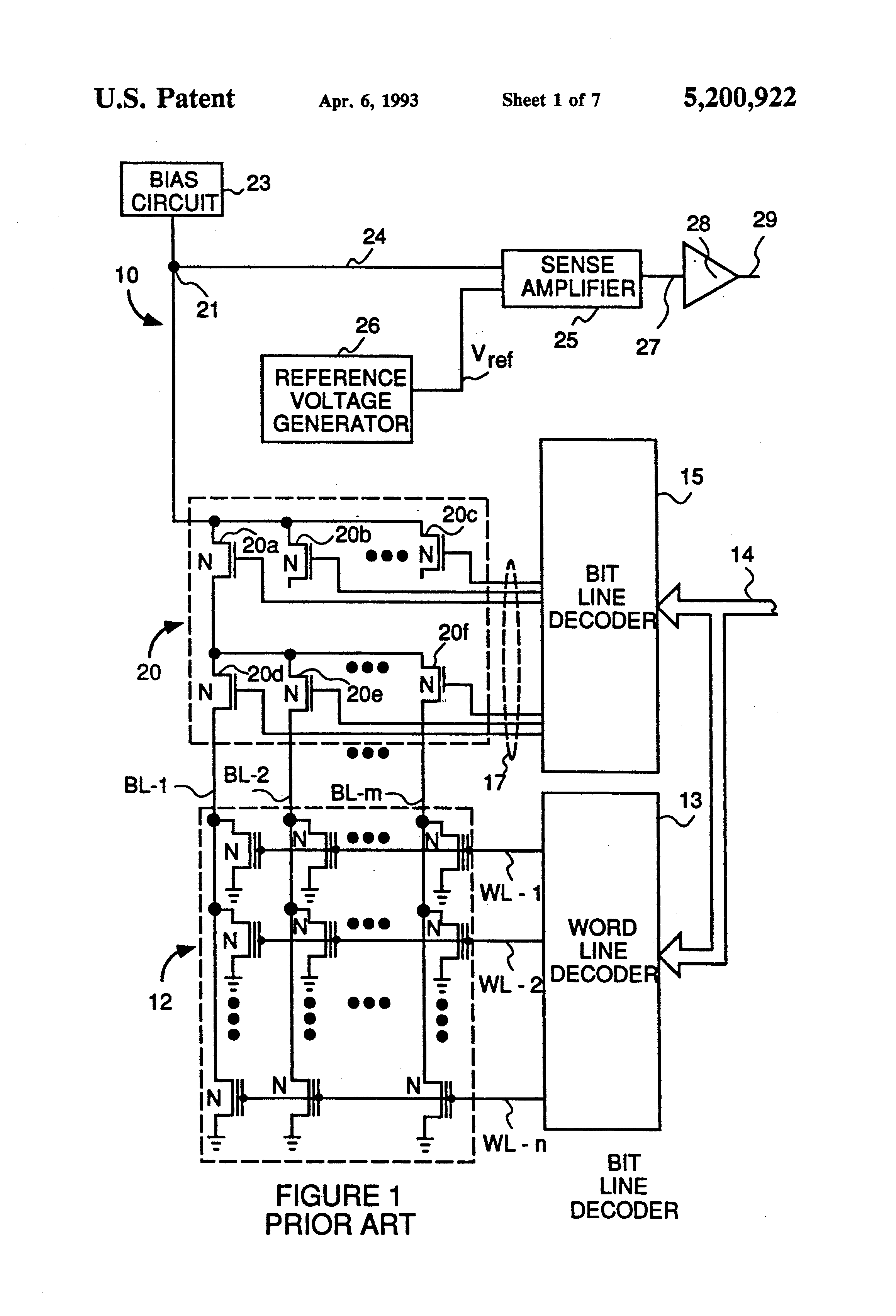 patent us5200922 - redundancy circuit for high speed eprom and flash memory devices