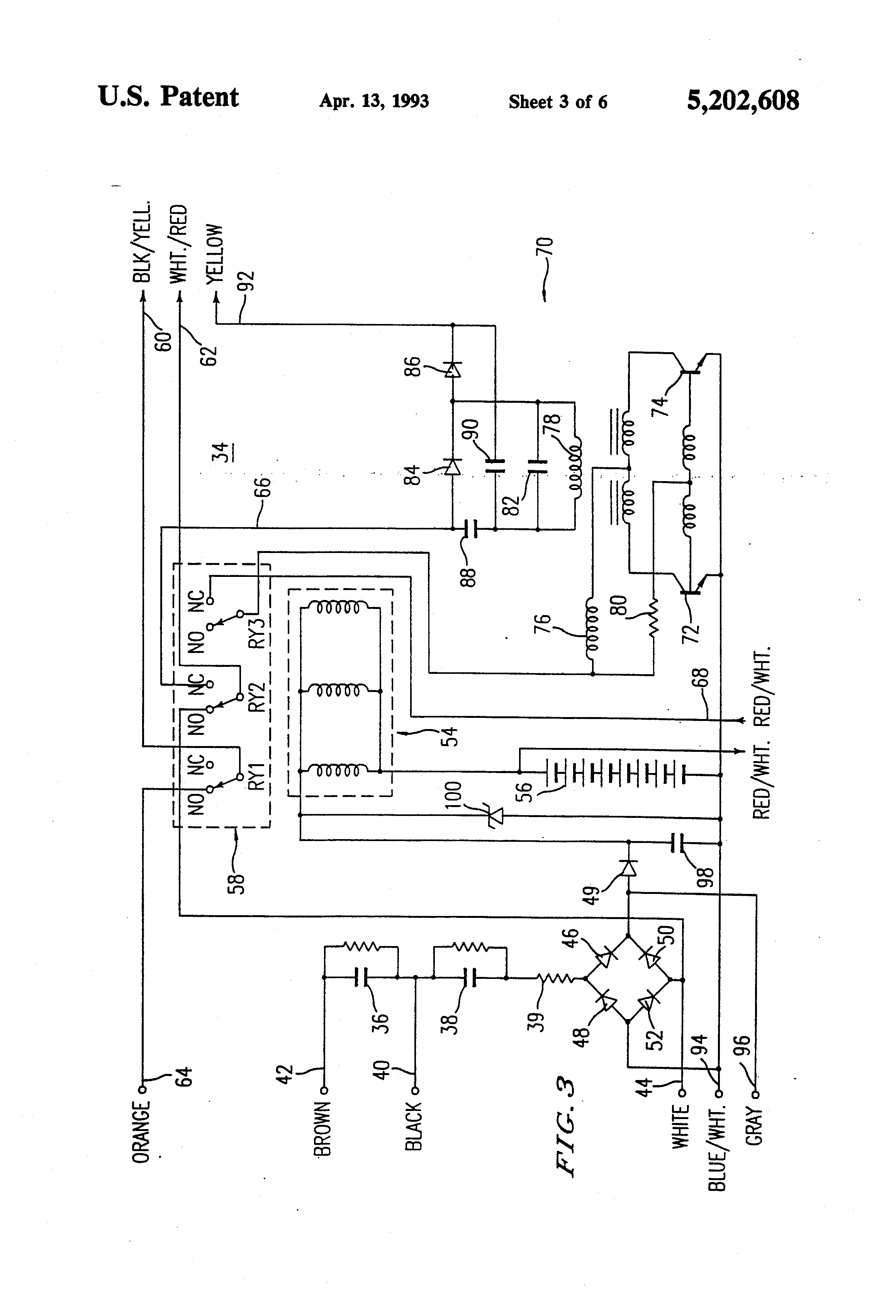 US5202608 3 patent us5202608 emergency lighting system utilizing improved bodine b90 emergency ballast wiring diagram at gsmportal.co