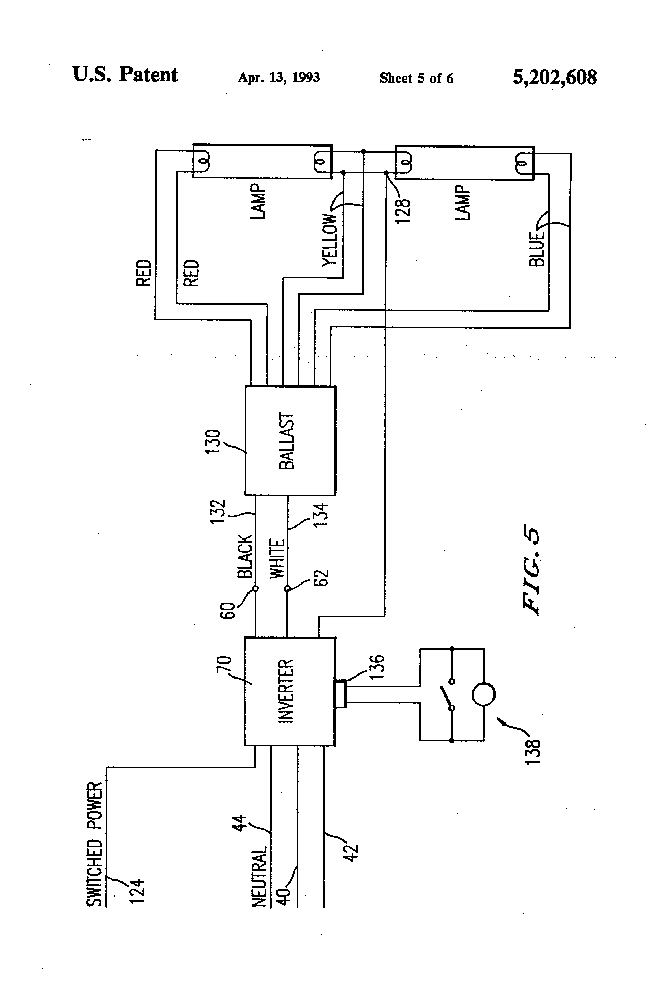 US5202608 5 wh5 120 l wiring diagram t5 ballast wiring diagram \u2022 wiring fulham workhorse 2 wh2-120-l wiring diagram at et-consult.org