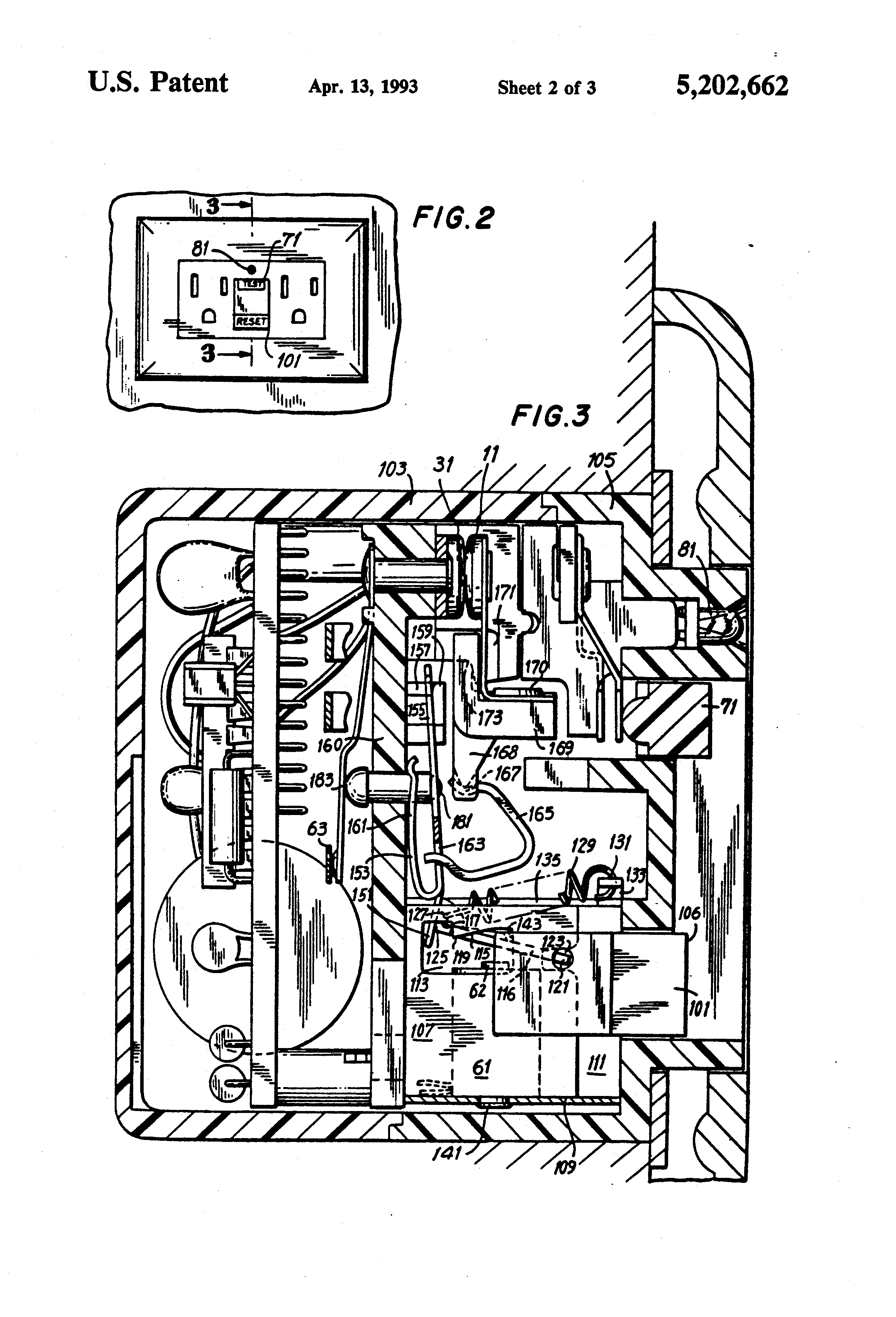 Ground Fault Outlet Wiring Diagram As Well Patent Us7289306 Patente Us5202662 Resettable Circuit Breaker For Use In