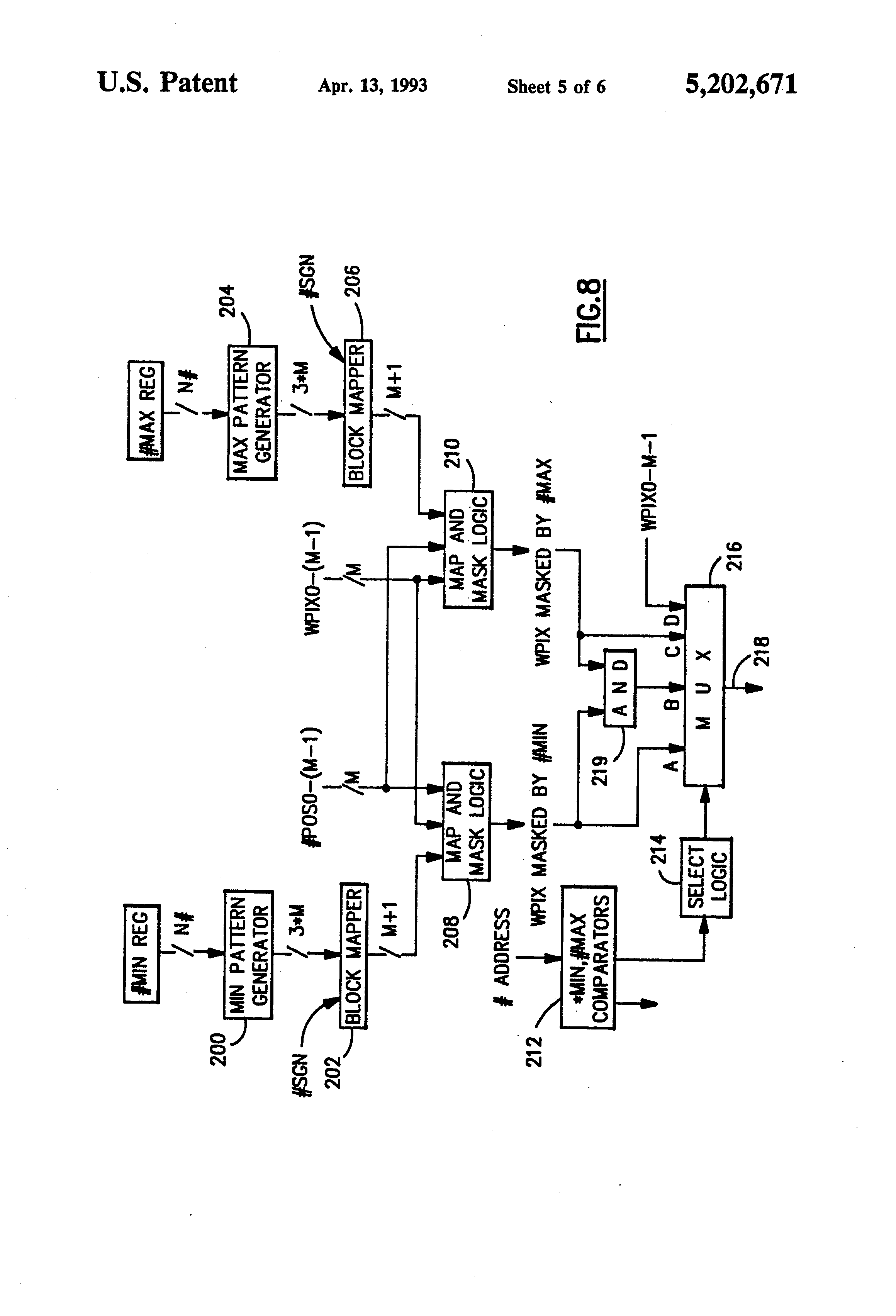 Patent US Pick Function Implementation In A Parallel - Us map pattern generator