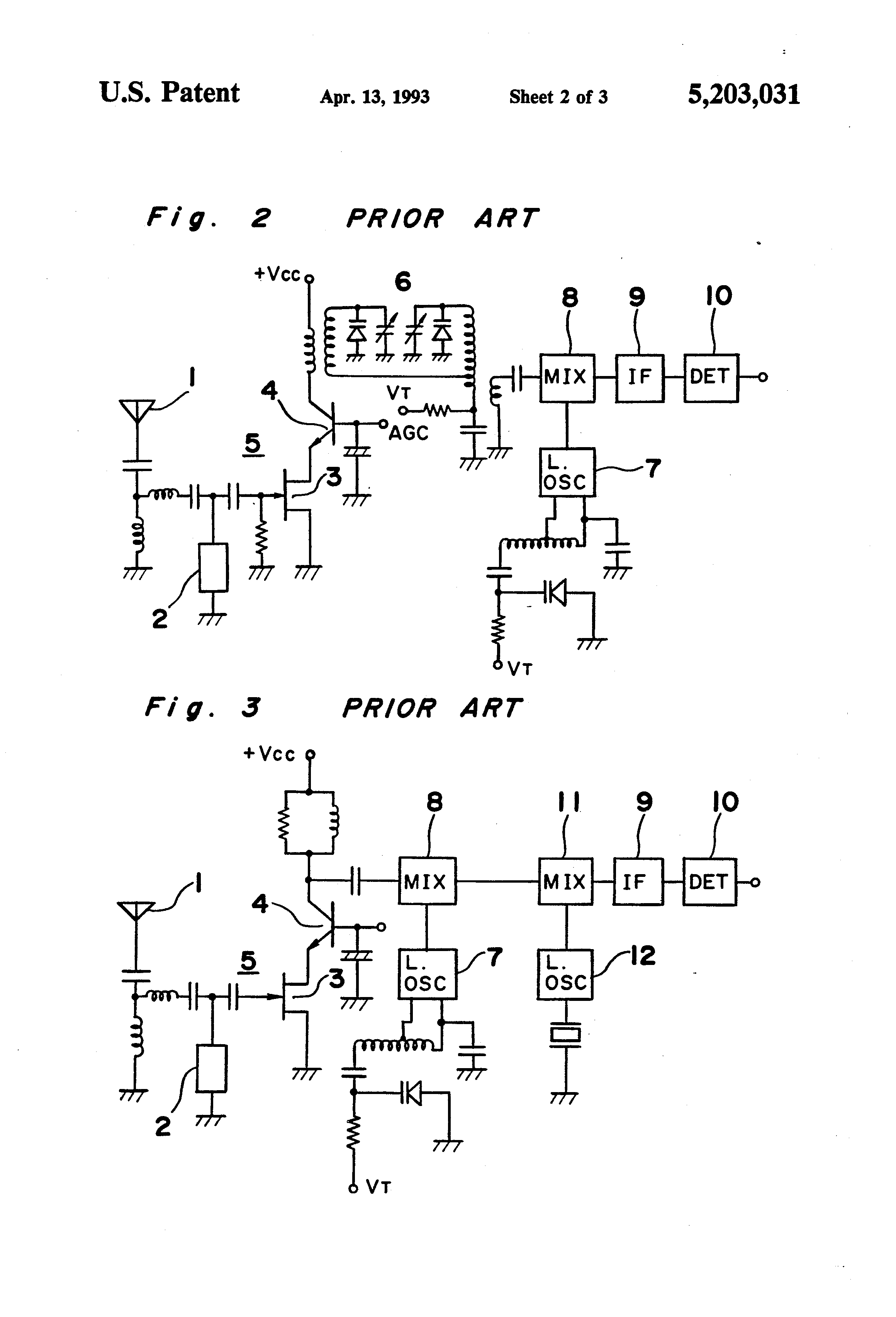 Patent Us5203031 Am Radio Receiver With Improved Tracking Google Function Generator Circuit Car Tuning Drawing