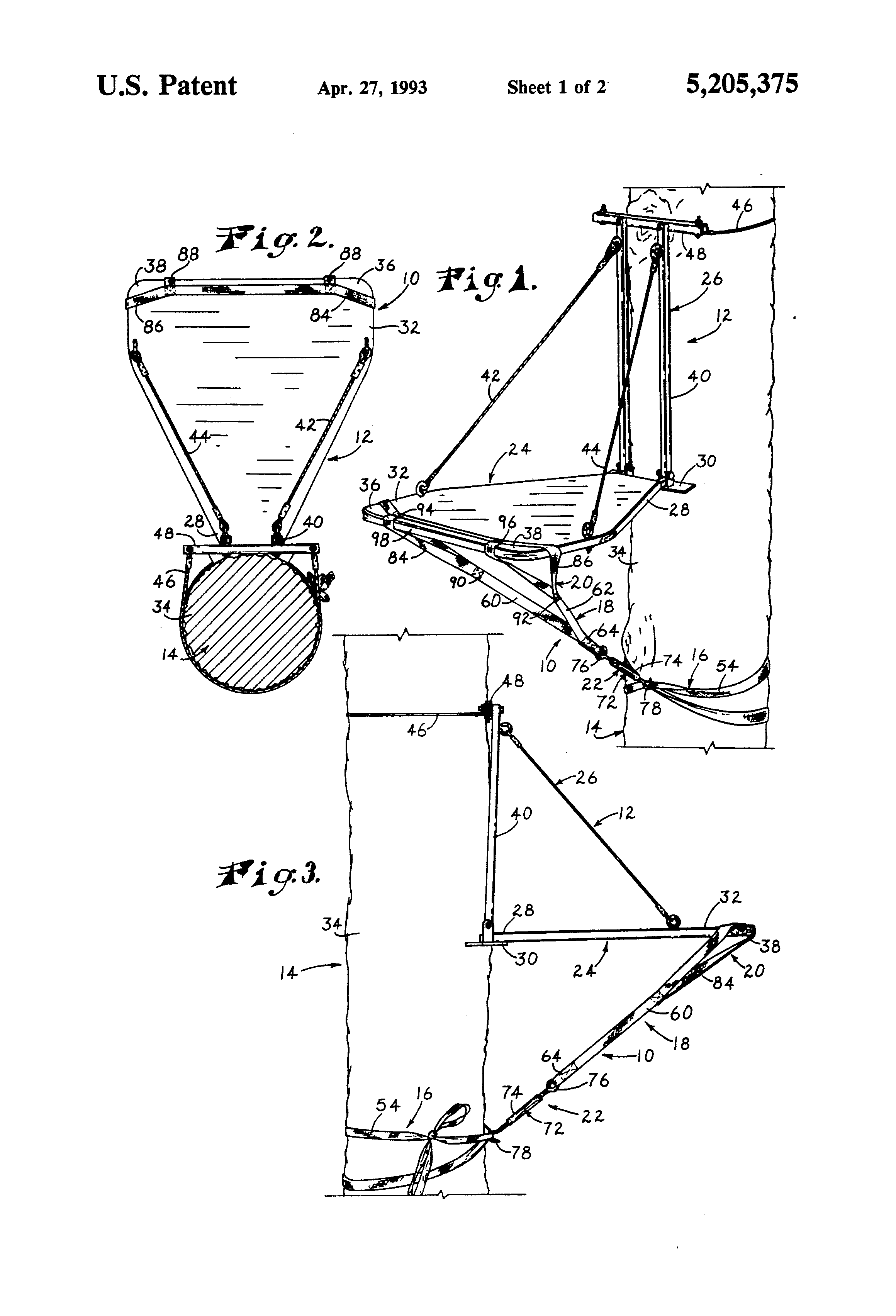 Diy tree stand plans - Patent Drawing