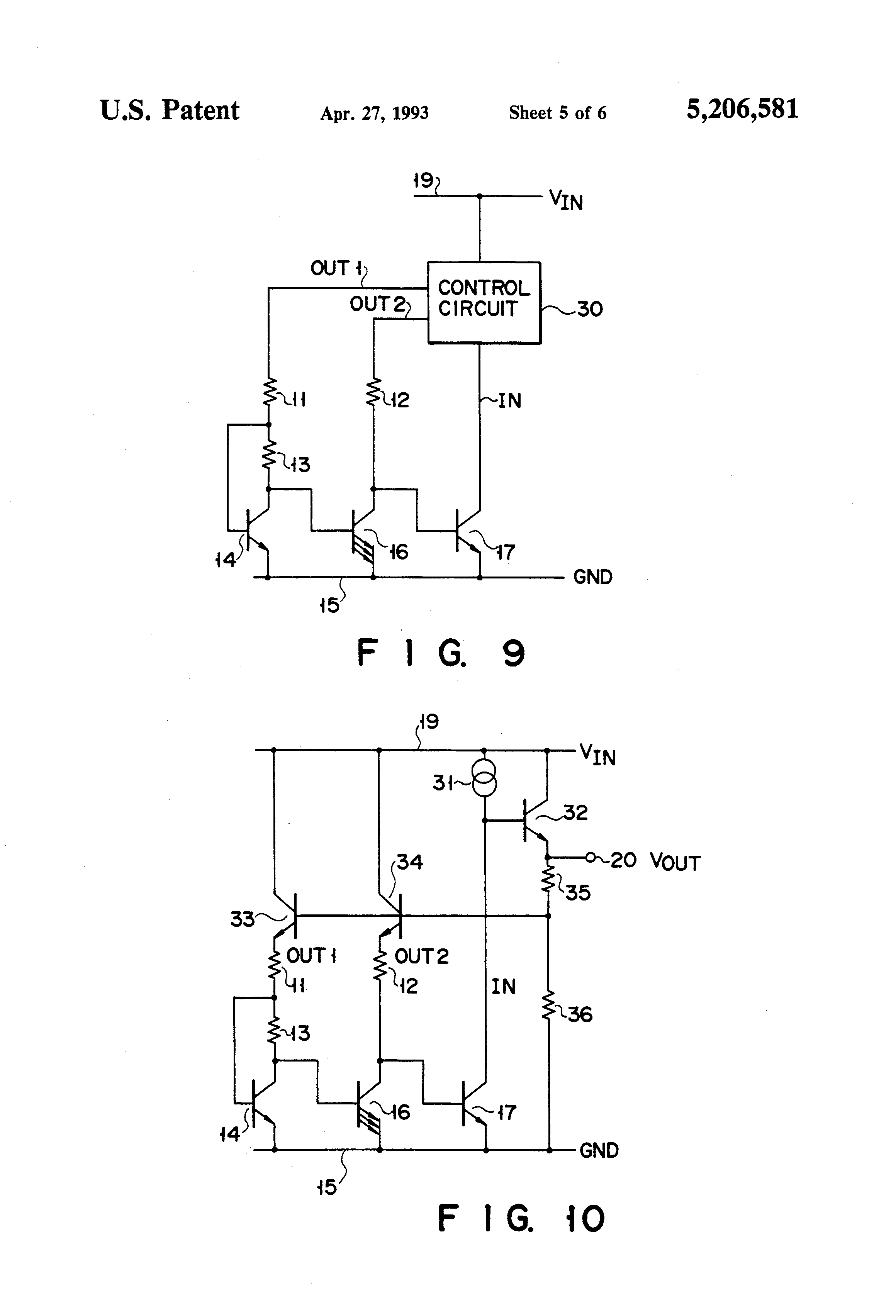 Patent Us5206581 Constant Voltage Circuit Google Patents Negative Reference 2 Basiccircuit Diagram Drawing