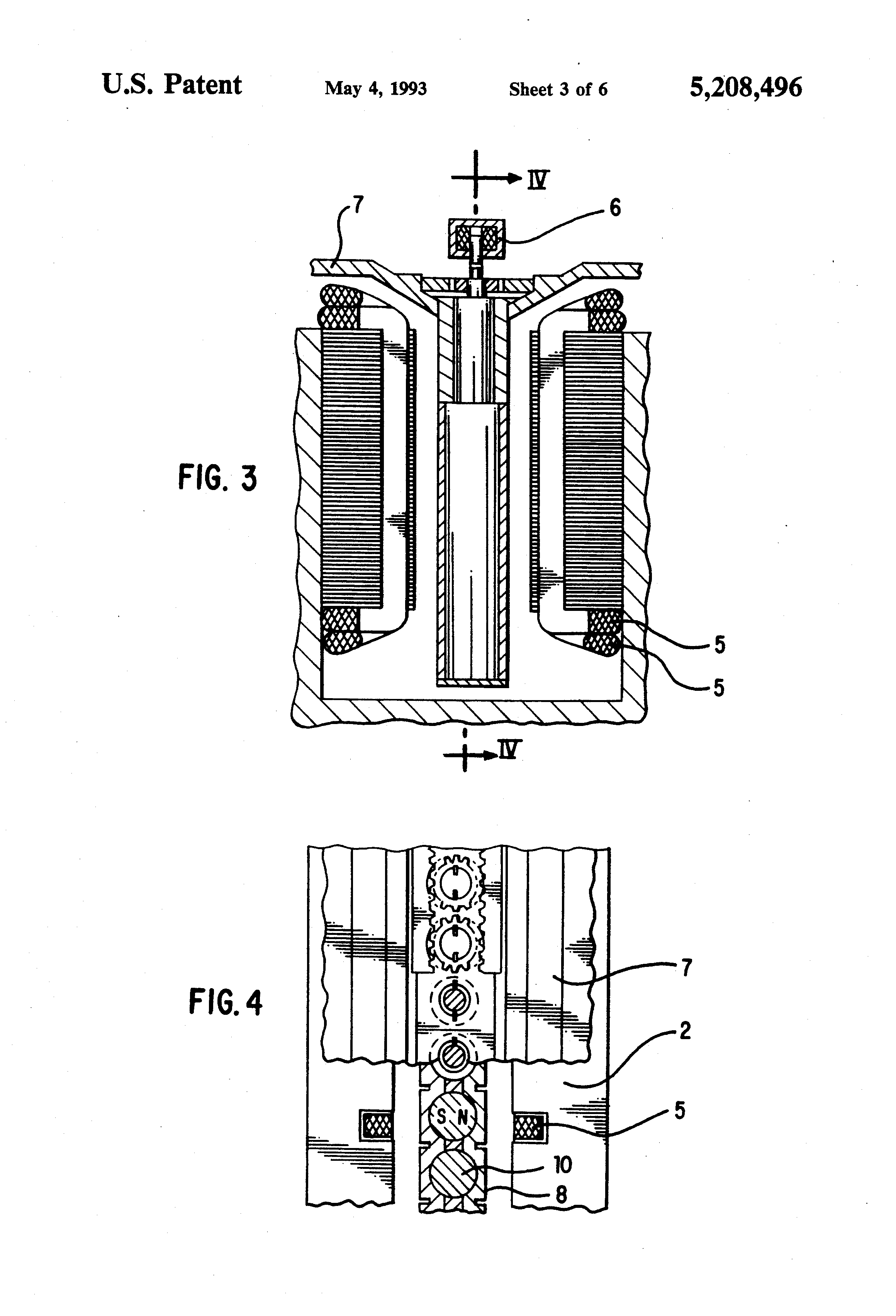 Patent Us5208496 Linear Synchronous Motor Having