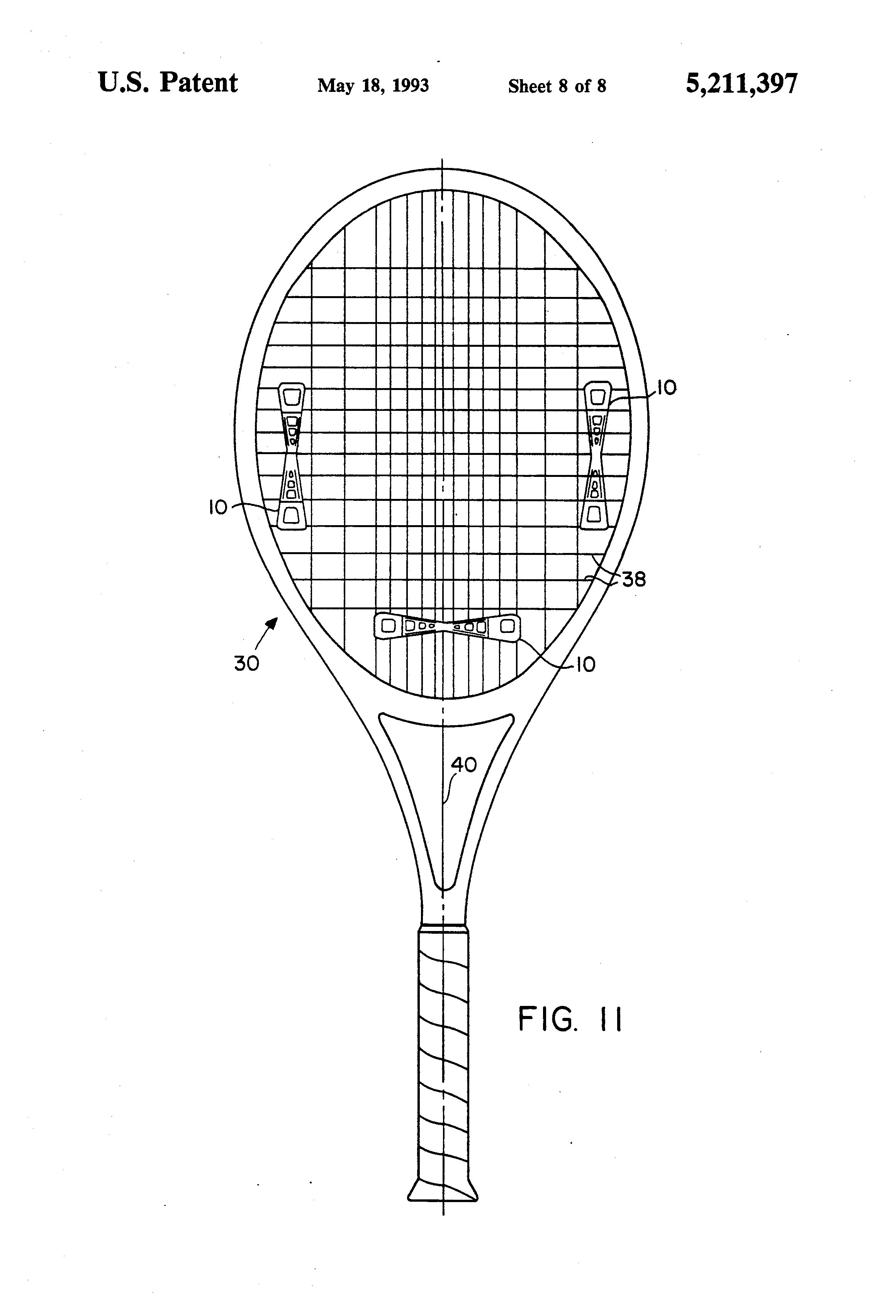 how to put a vibration dampener on a tennis racquet
