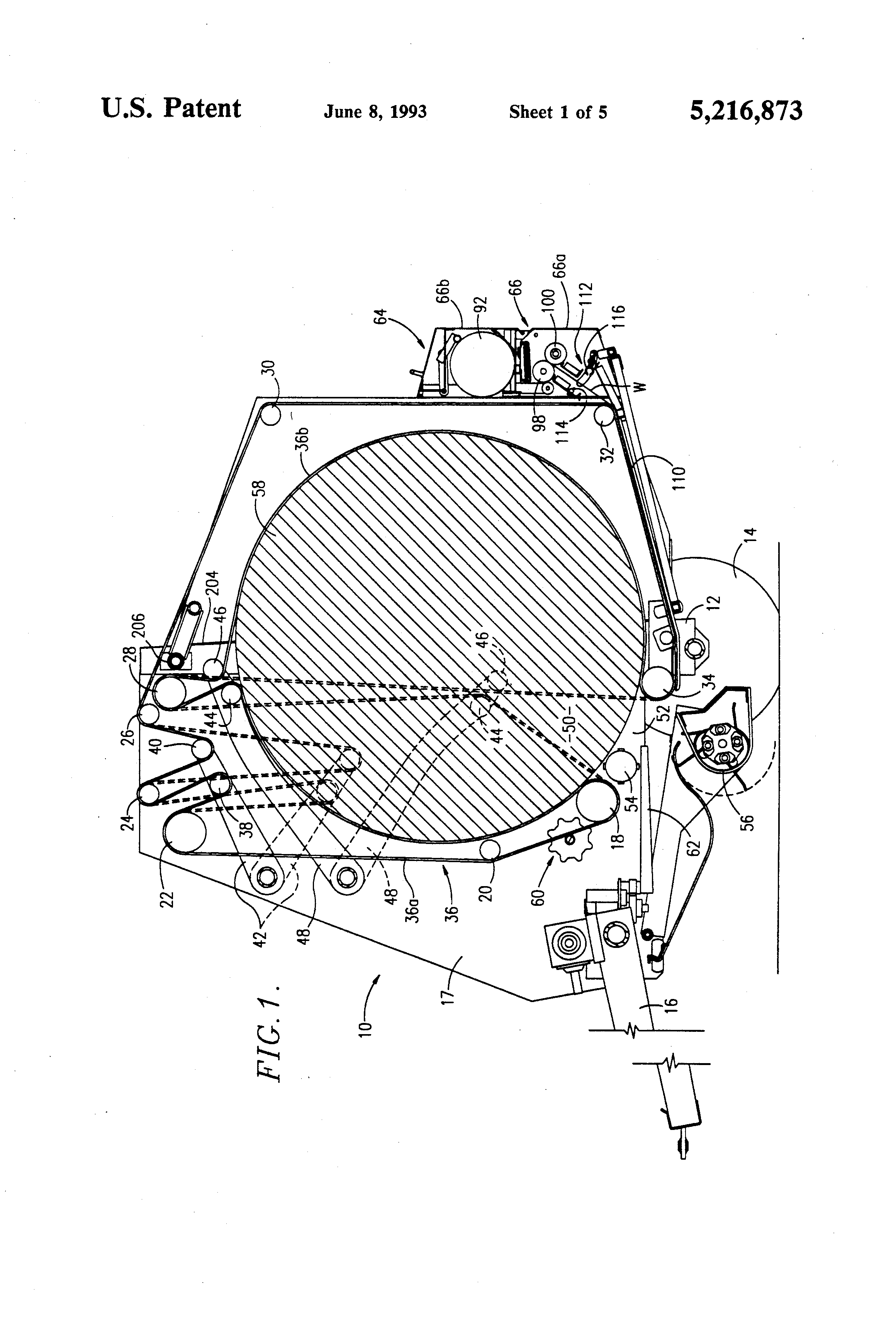 US5216873 1 patent us5216873 wrapper cutoff mechanism for round balers John Deere 535 Hay Baler at fashall.co