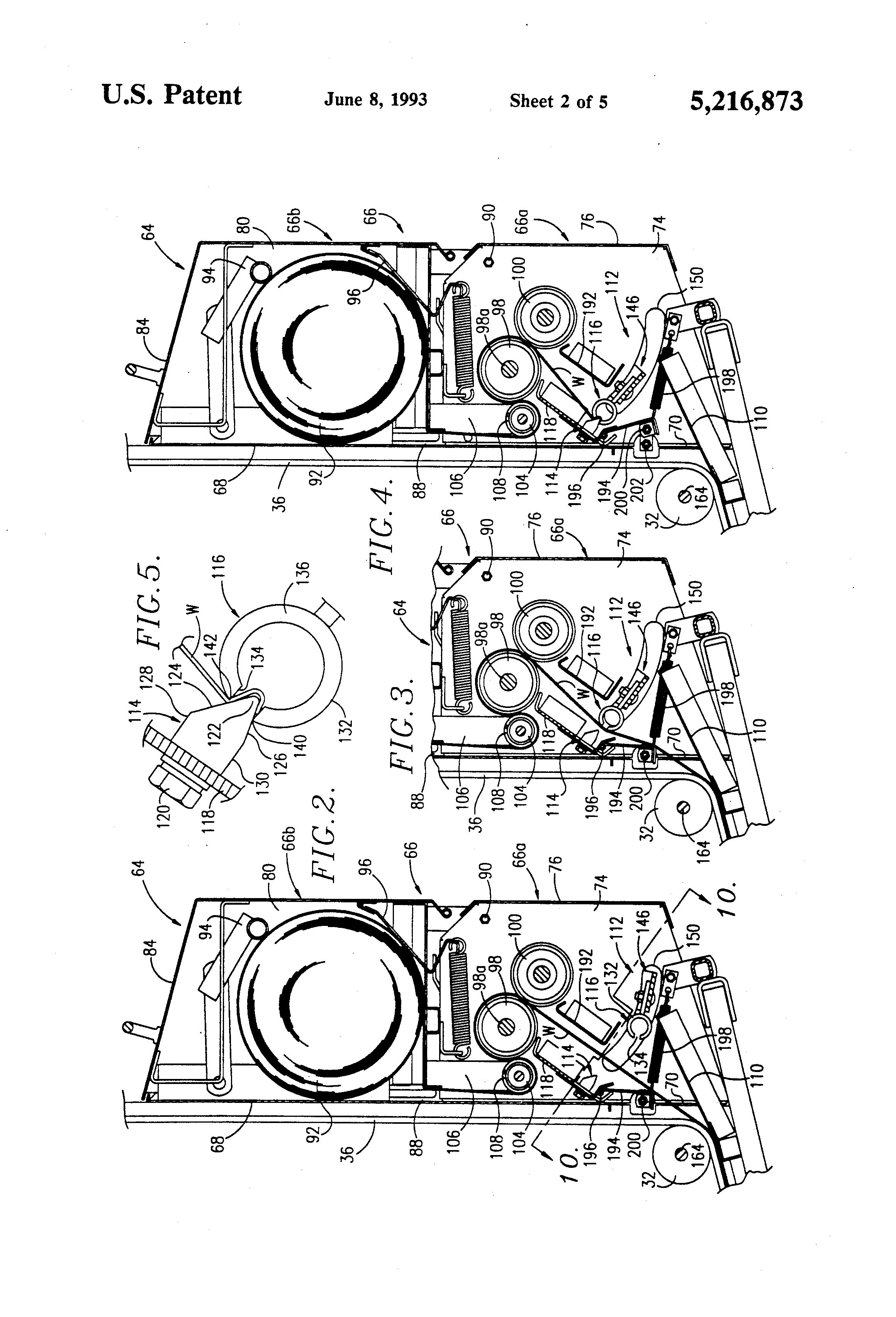 US5216873 2 patent us5216873 wrapper cutoff mechanism for round balers John Deere 535 Hay Baler at fashall.co