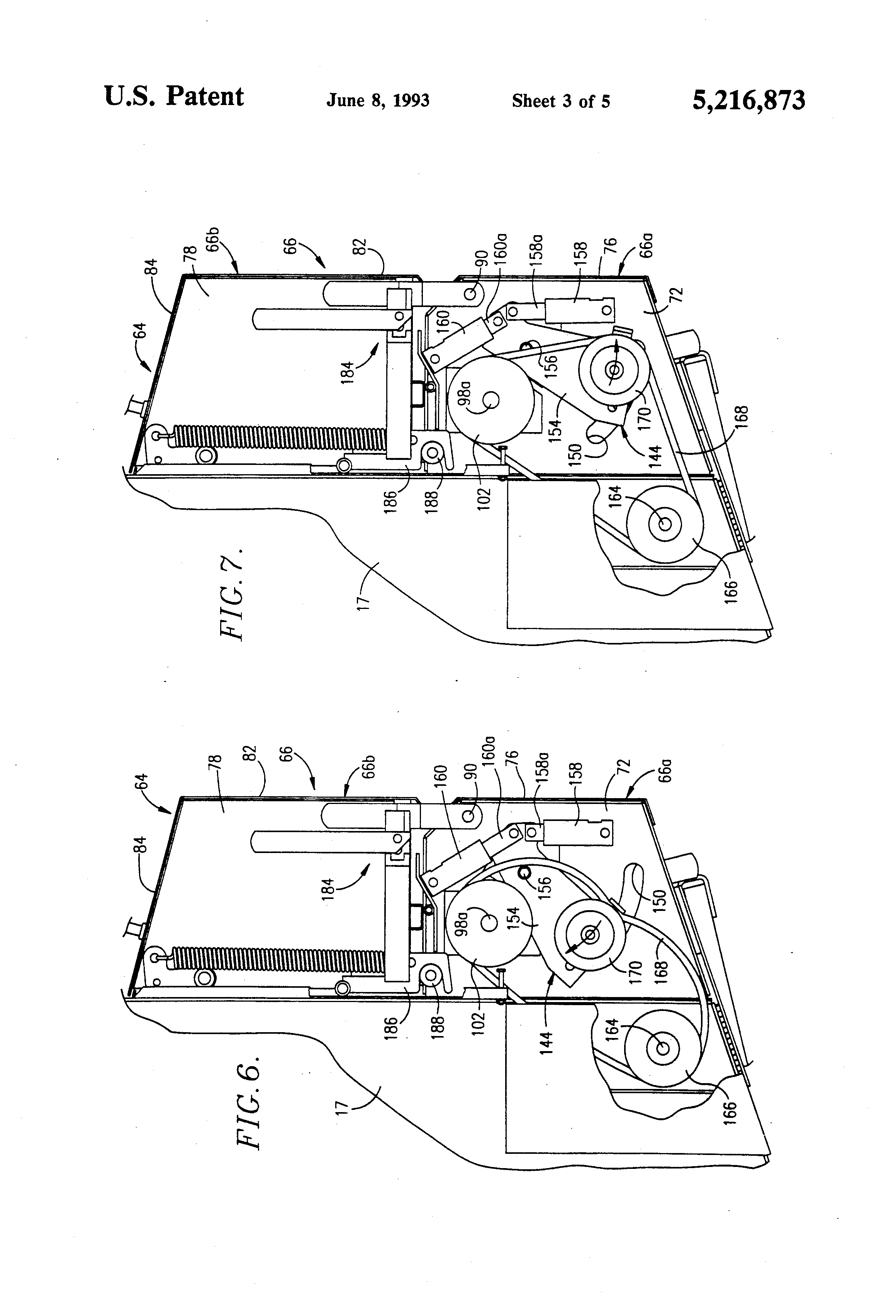 US5216873 3 patent us5216873 wrapper cutoff mechanism for round balers John Deere 535 Hay Baler at fashall.co