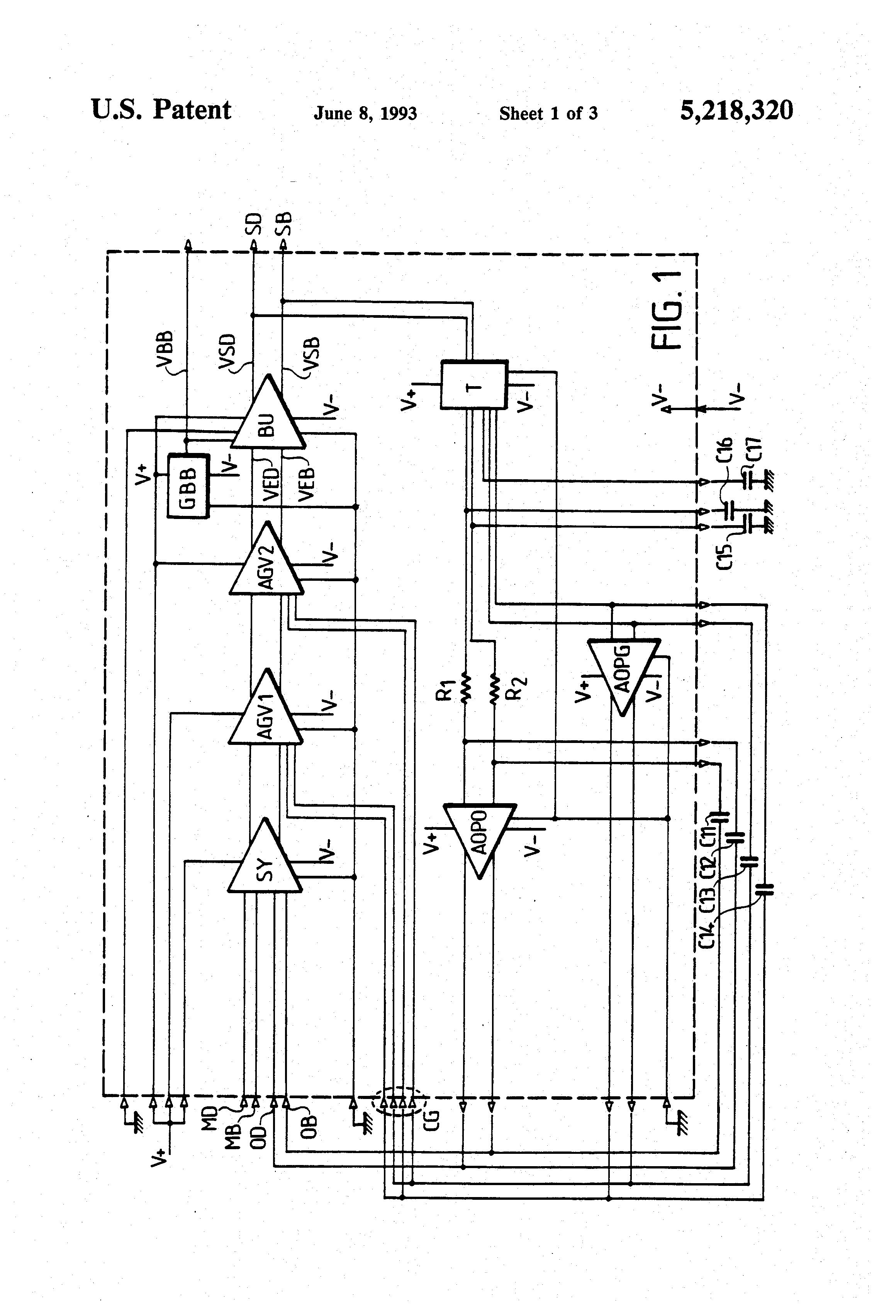 30dbm Wideband Amplifier Circuit Amplifiercircuit Diagram Seekiccom Patent Us5218320 Having