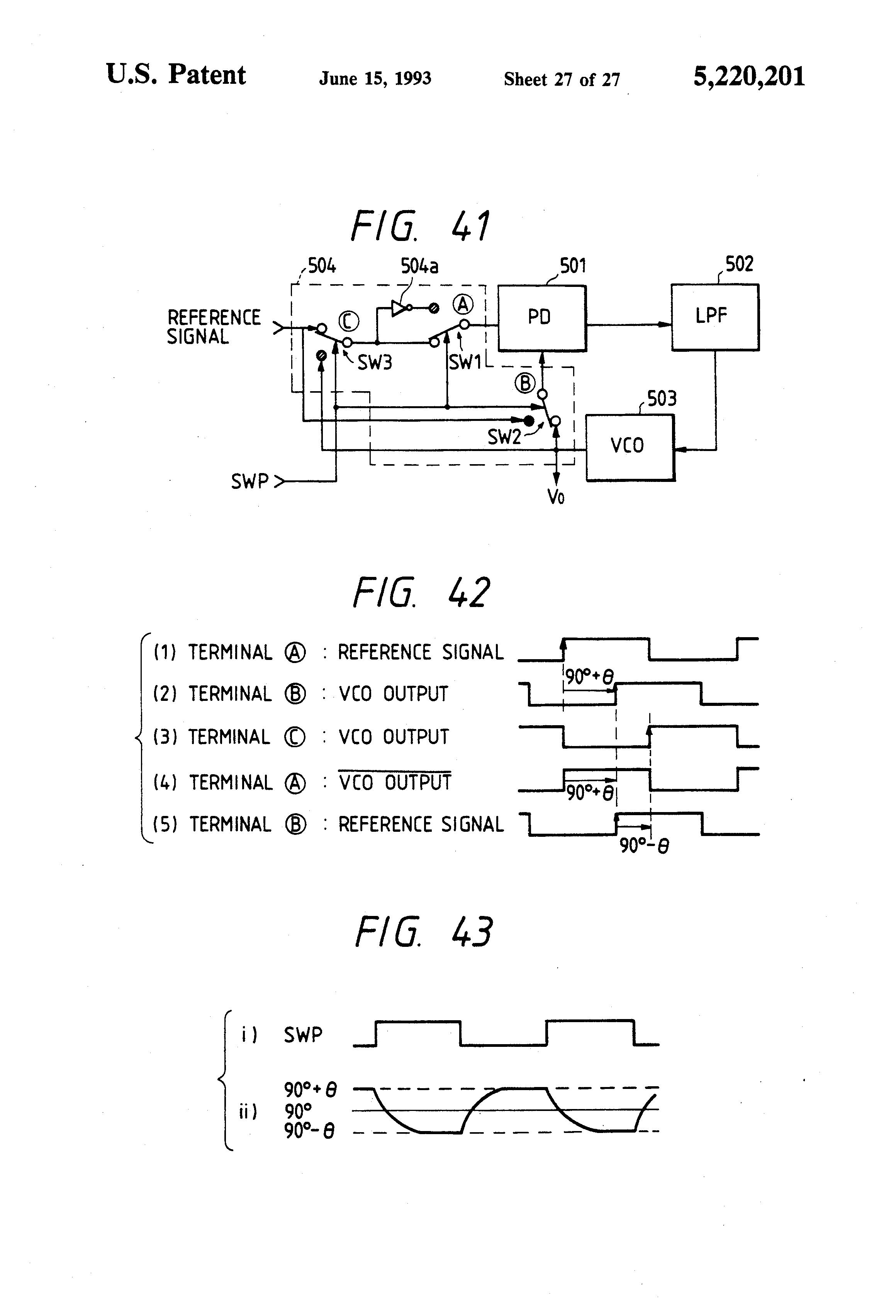 Patent Us5220201 Phase Locked Signal Generator Google Patents Quartz Crystal Rectangular Wave Oscillator Circuit Signalprocessing Drawing
