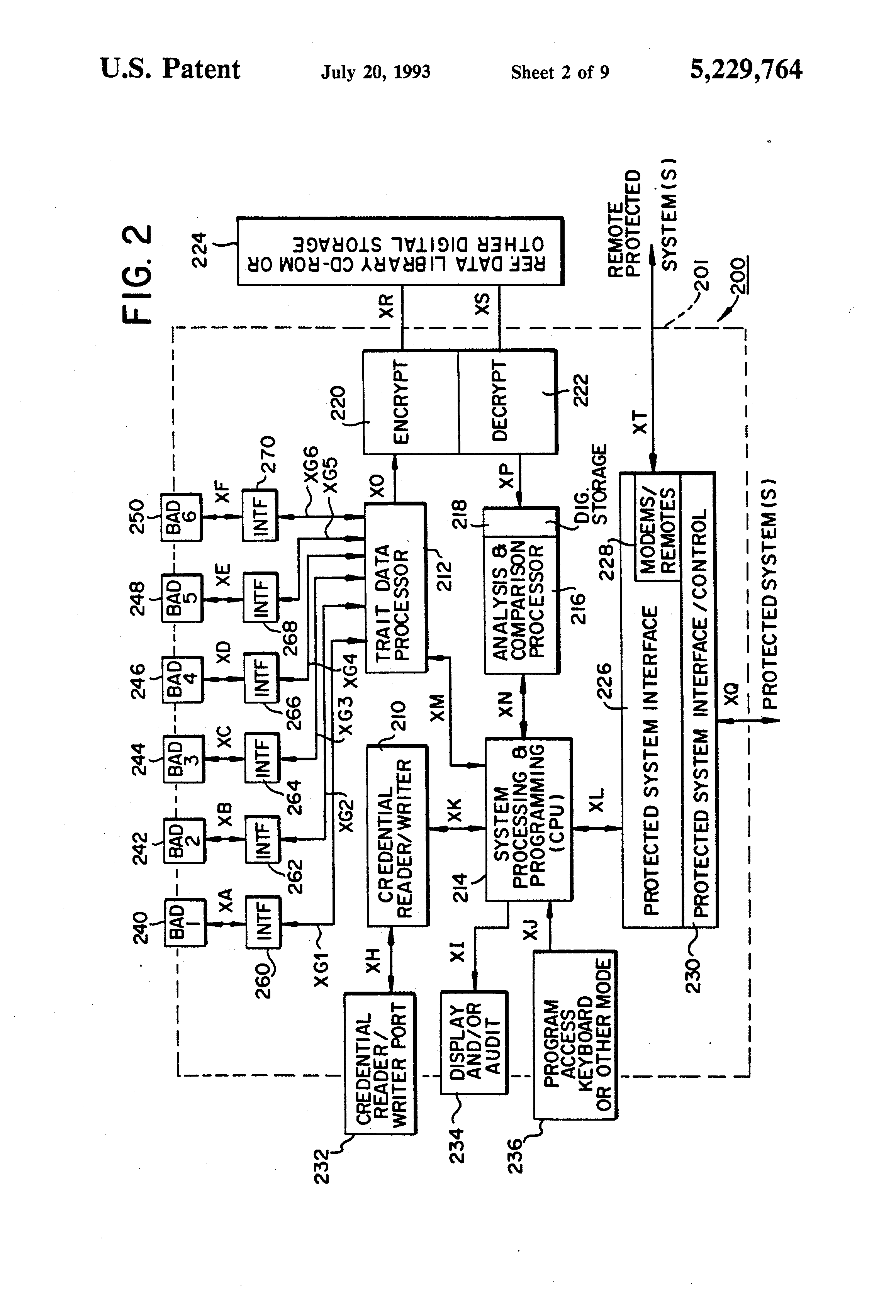 US5229764 2 patent us5229764 continuous biometric authentication matrix pg drives technology s drive wiring diagram at fashall.co
