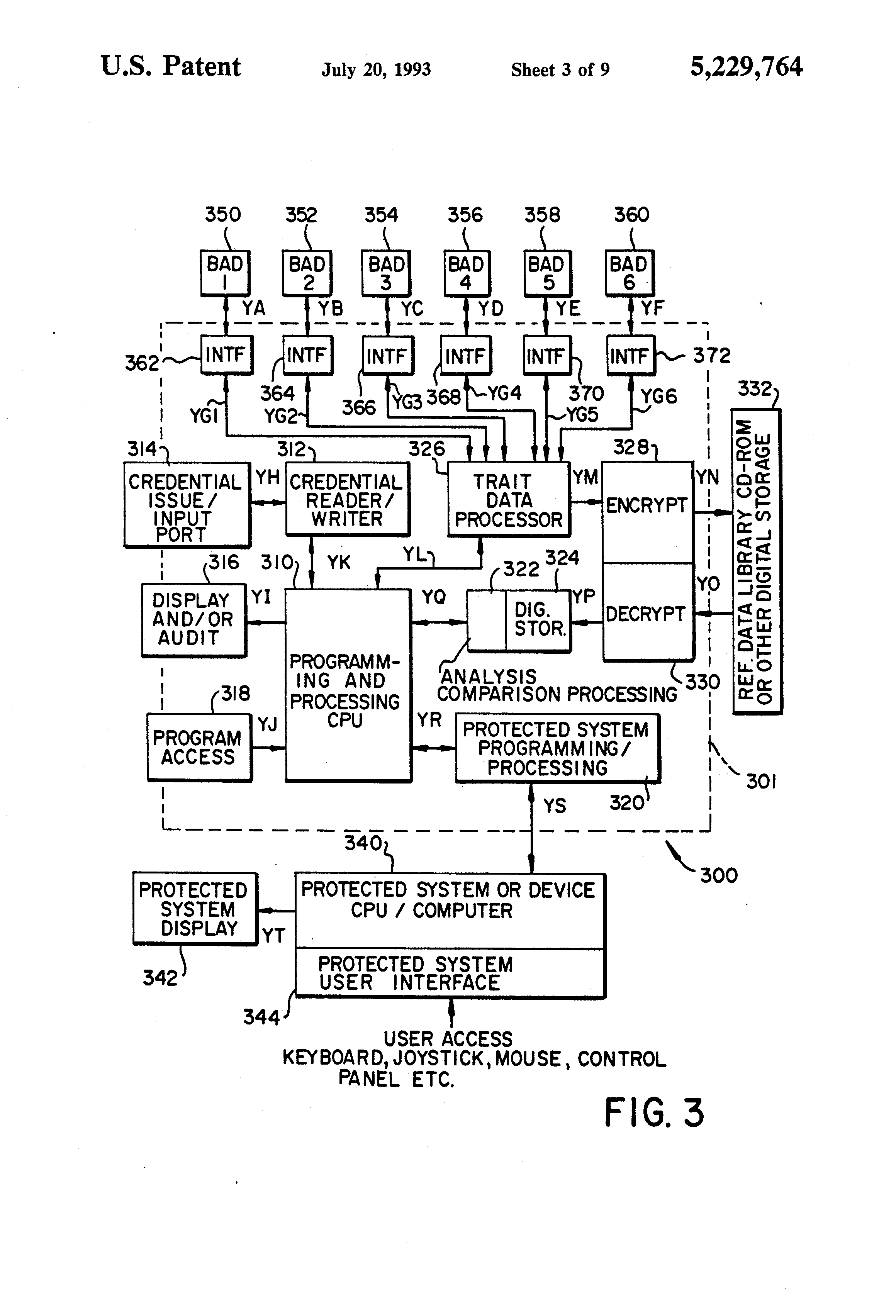 US5229764 3 patent us5229764 continuous biometric authentication matrix pg drives technology s drive wiring diagram at fashall.co