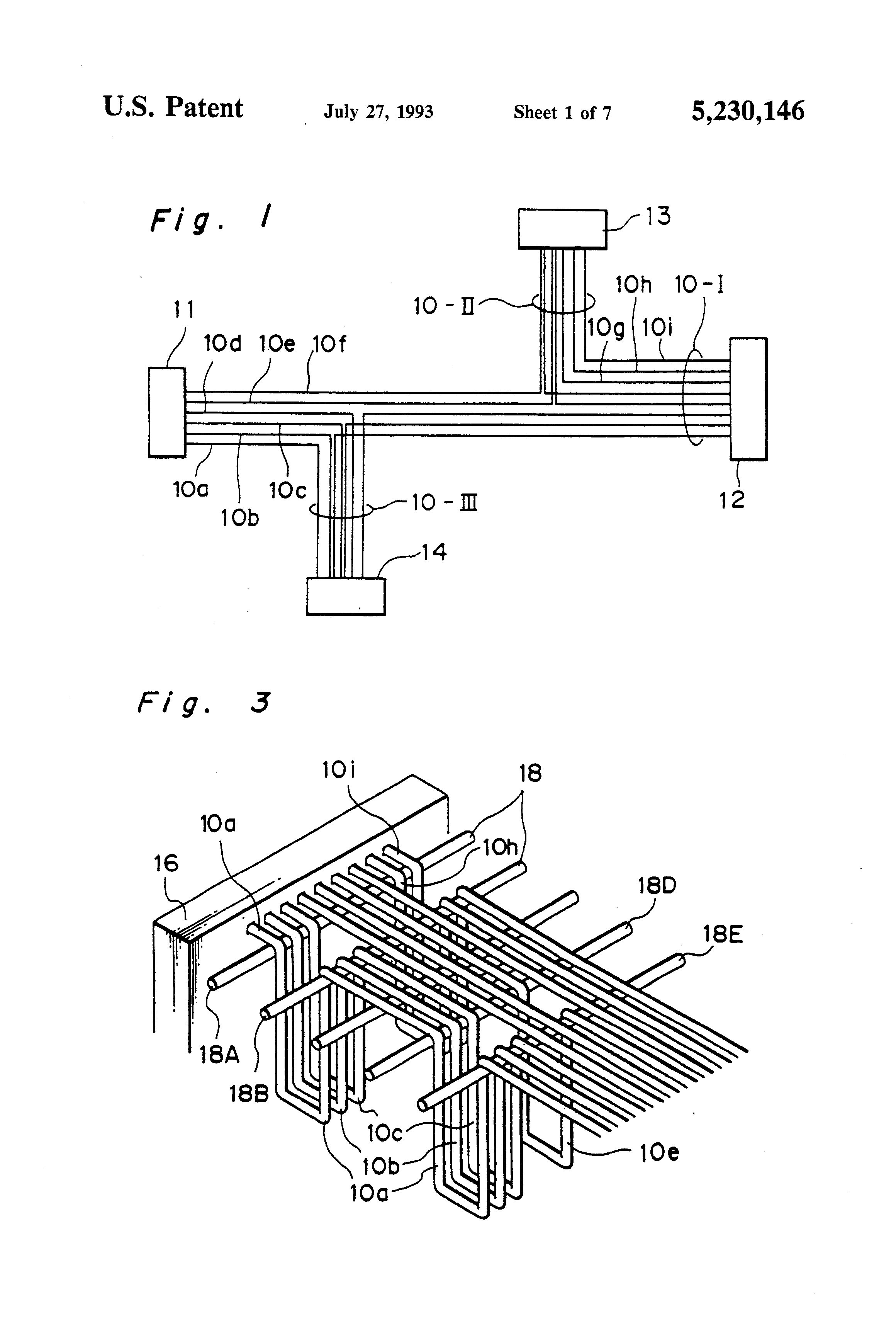 patent us5230146 method and apparatus for assembling wire harness Fuel Injector Connectors patent drawing