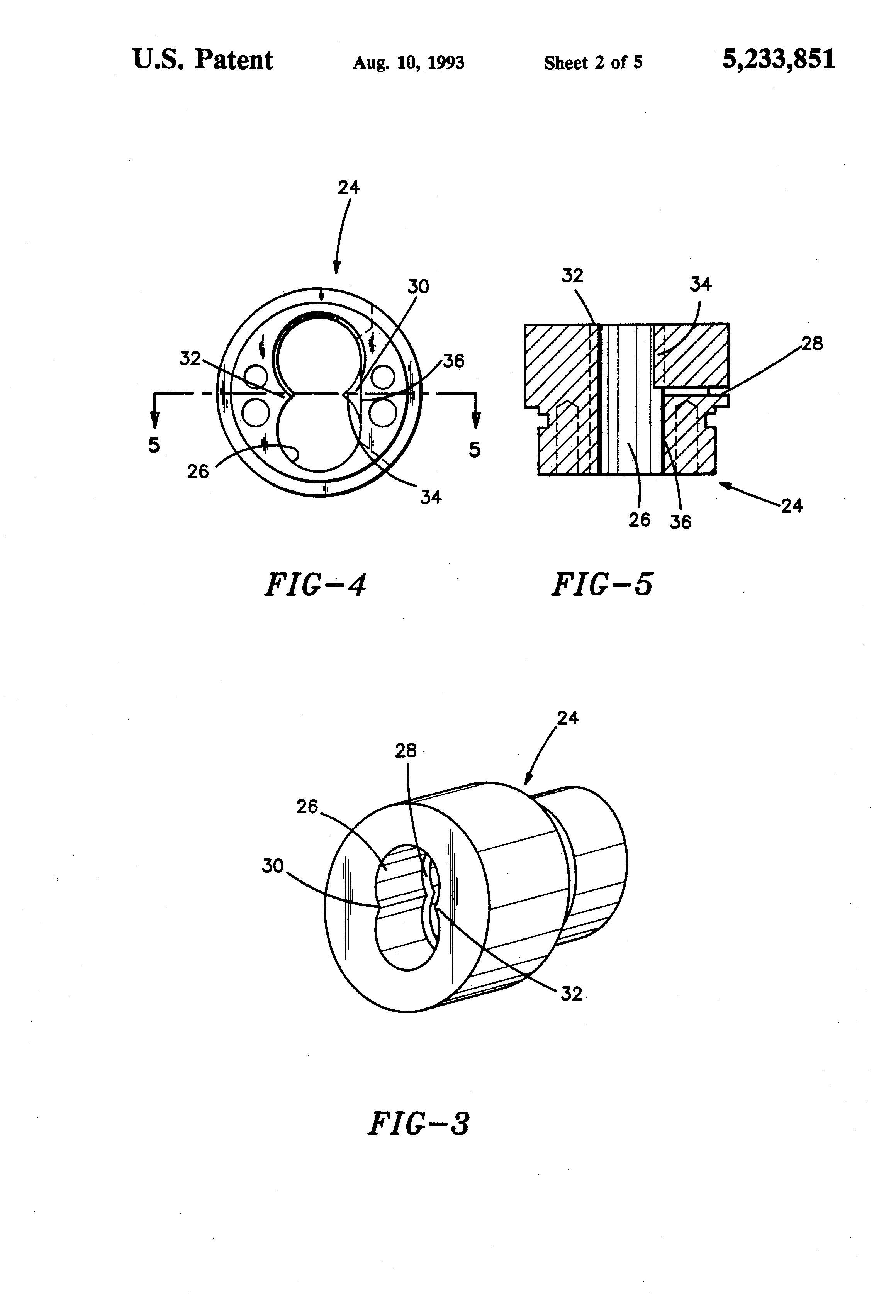 patent us5233851 housing and adaptor for interchangeable core