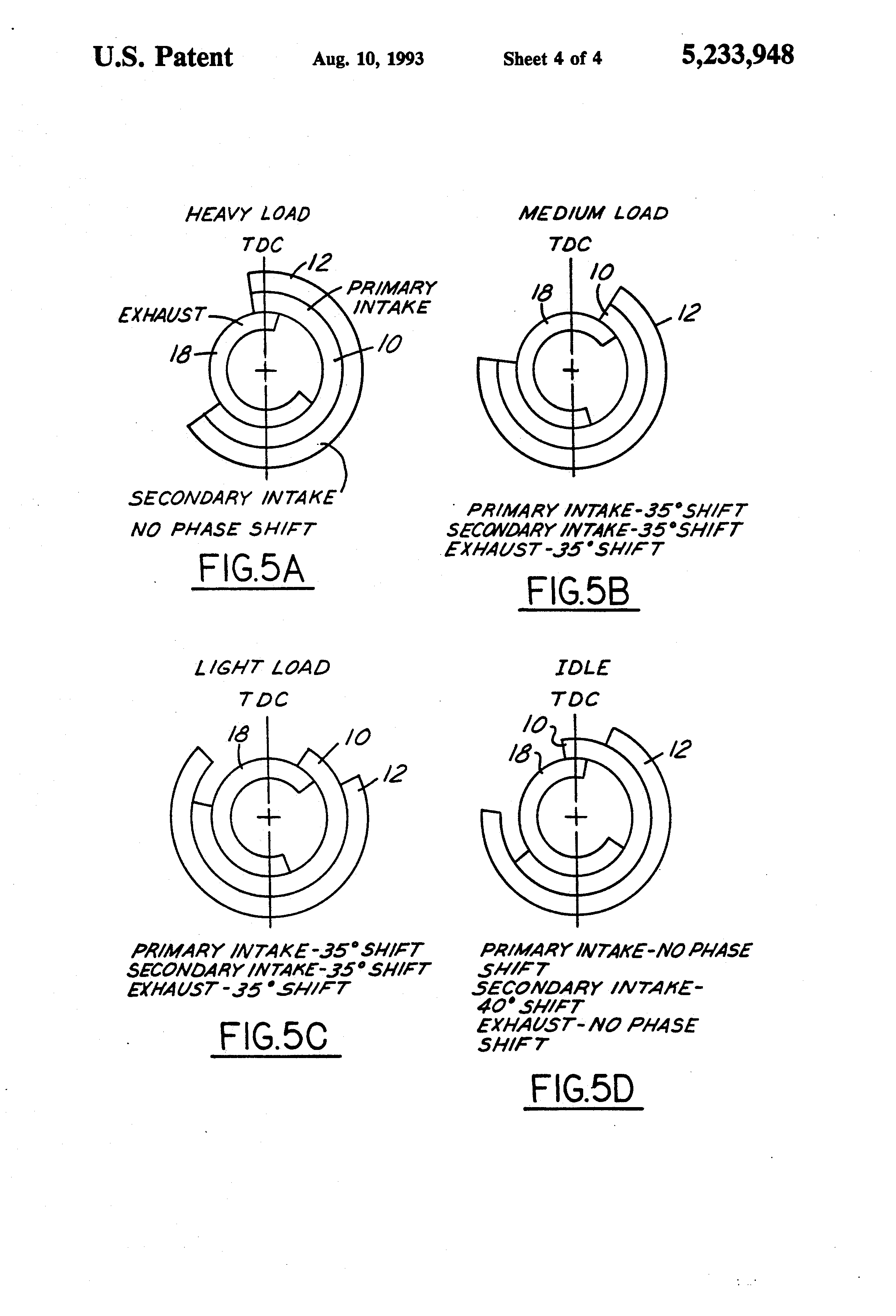patent us5233948 - variable cycle engine