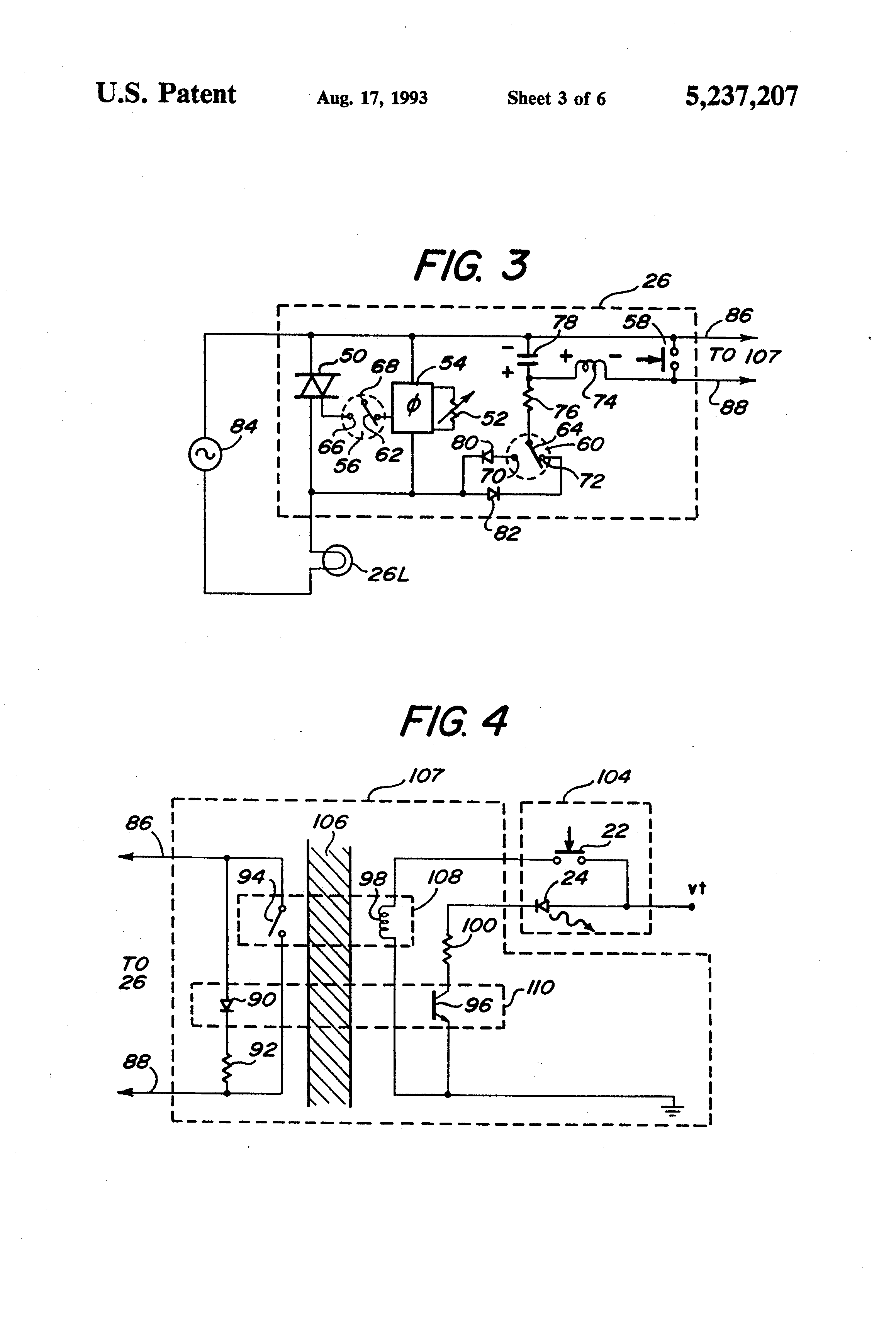 Patent Us5237207 Master Electrical Load Control System Google Figure 2 Pushbutton Closed Circuit Current Flows Drawing
