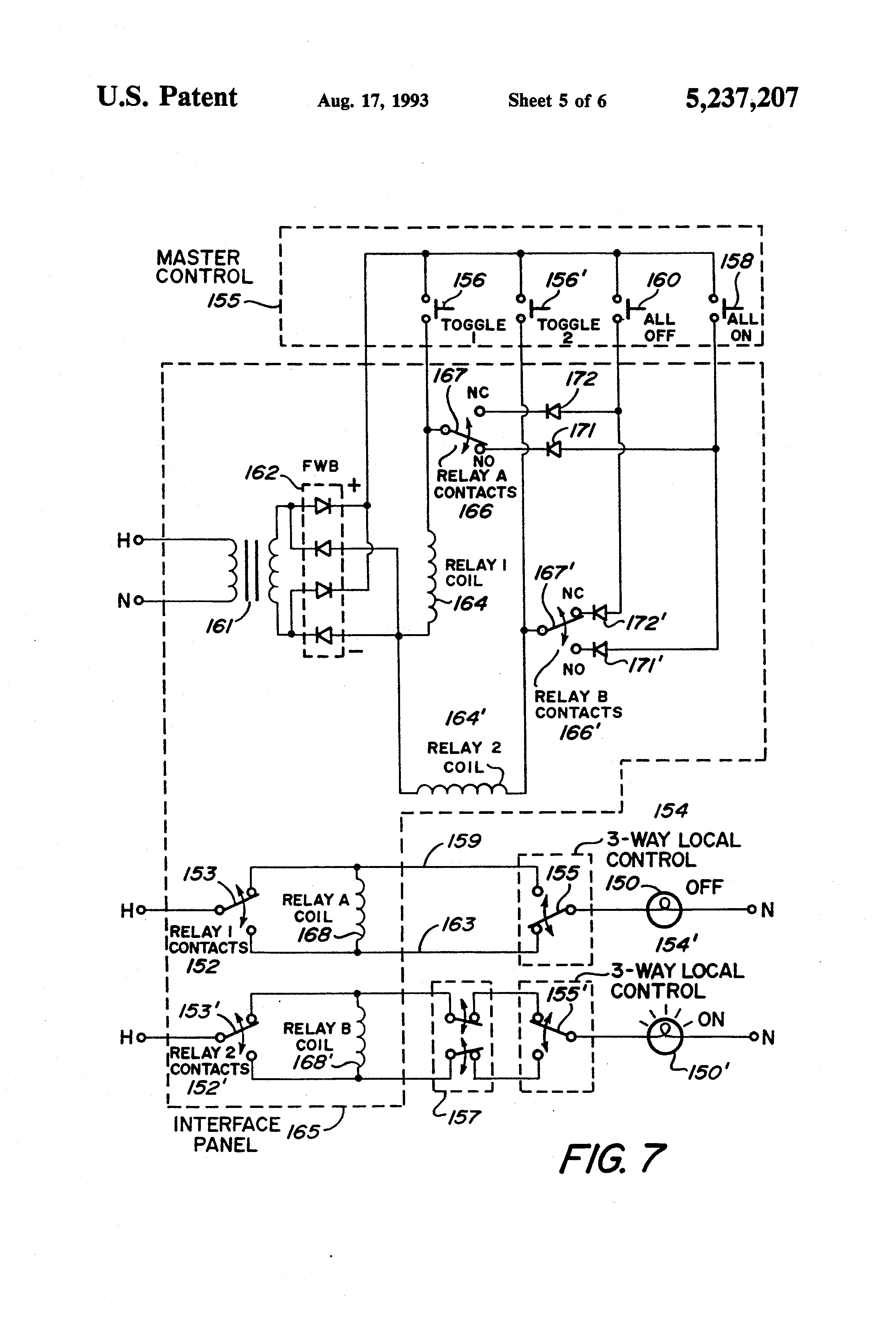 Patent US Master Electrical Load Control System Google - Two coil latching relay