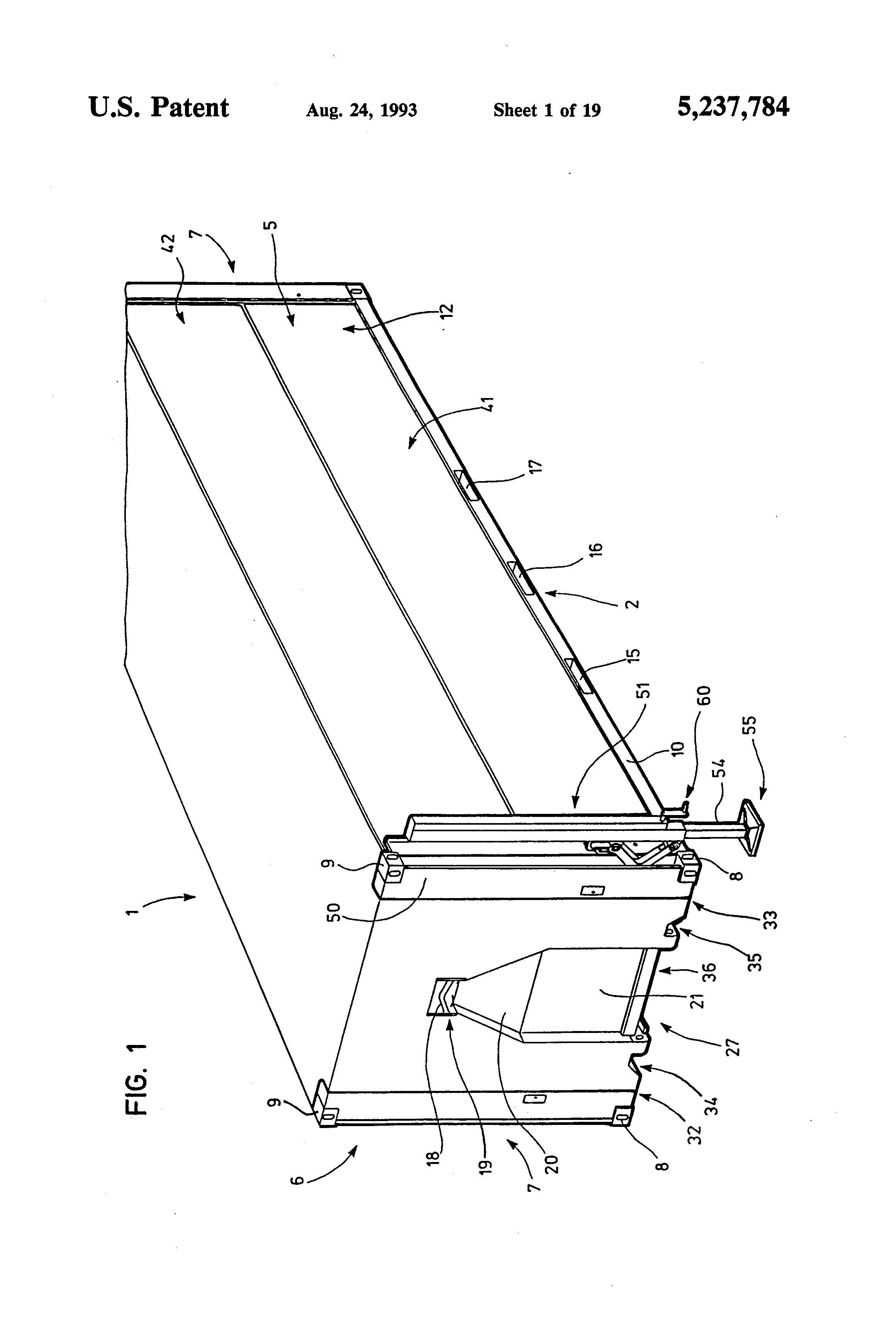 Patent us5237784 shelter container fit for habitation for Extension container habitable