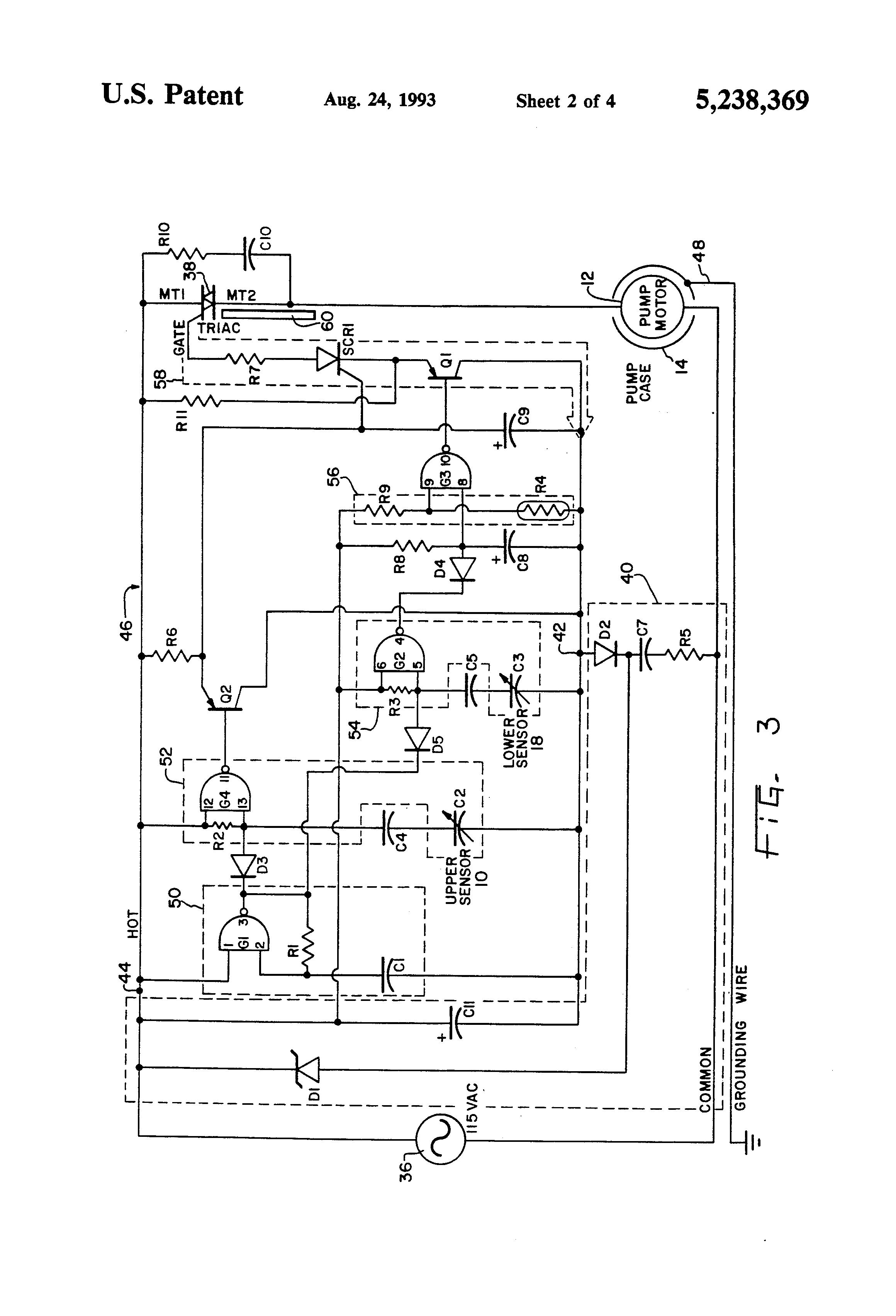 patent us5238369 - liquid level control with capacitive sensors