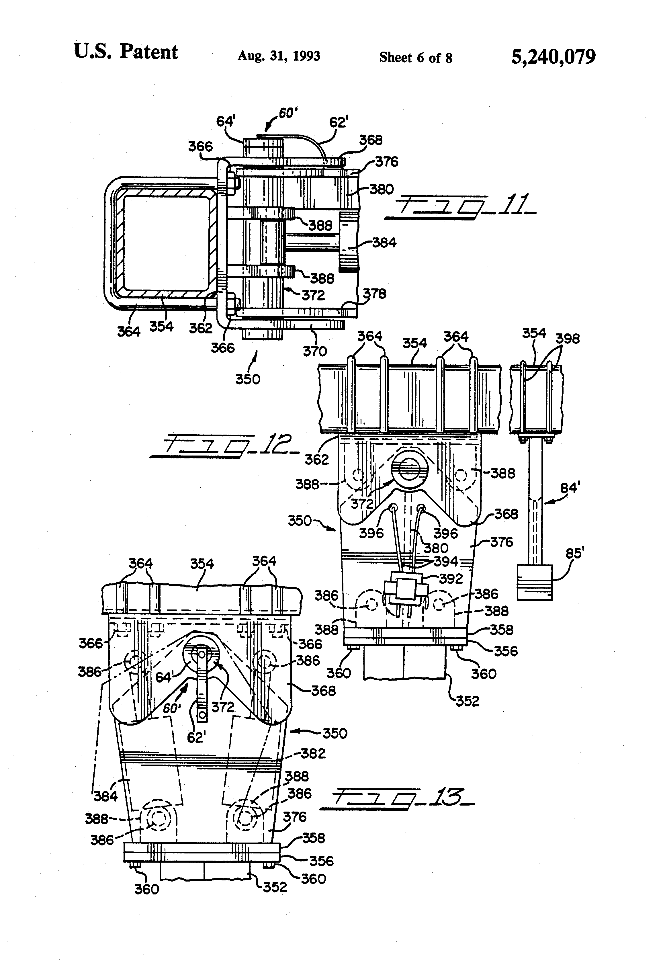 patent us5240079 guidance control system for farm tractor patent drawing