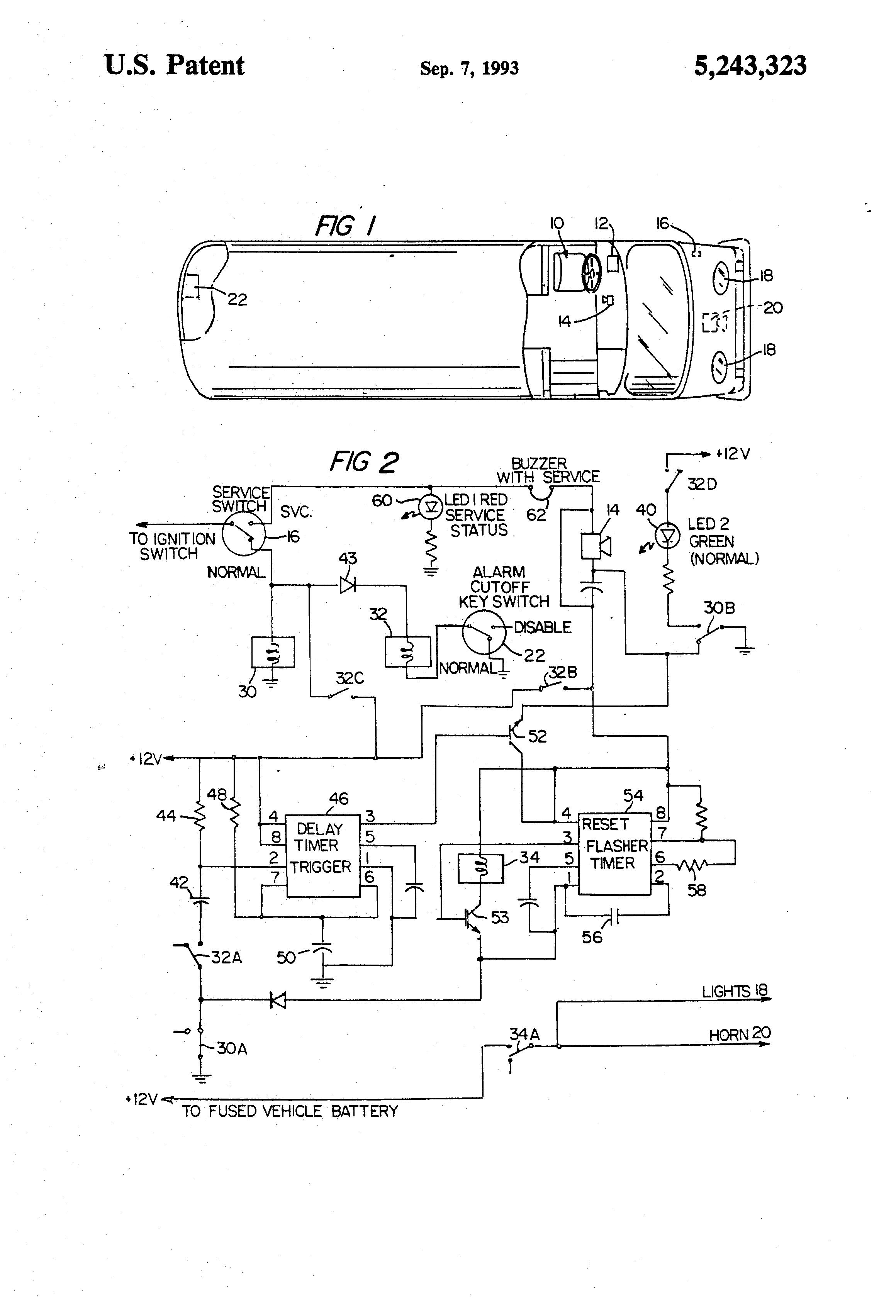 Patent Us5243323 - School Bus Alarm System