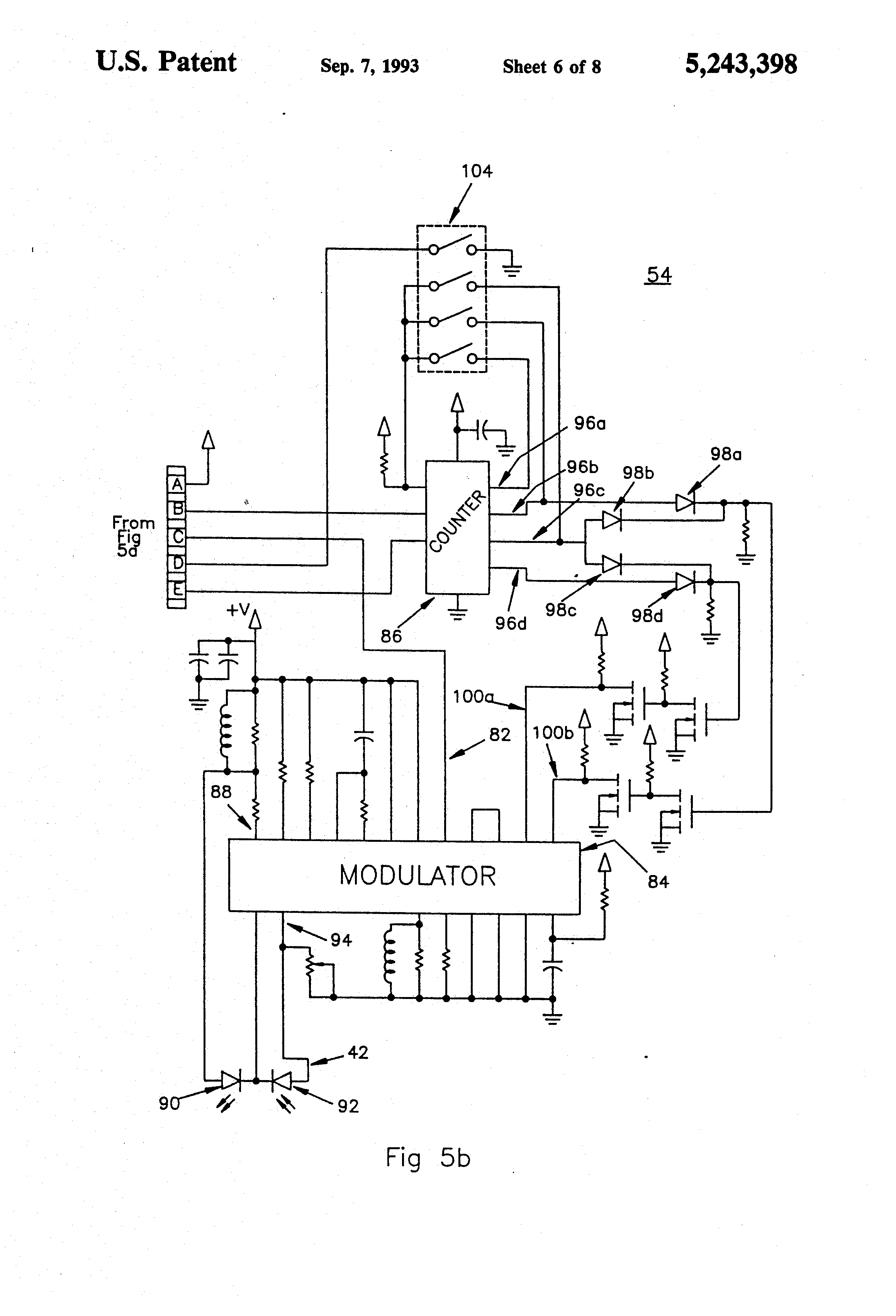 patent us5243398 - surveying instrument including low power light plane generator