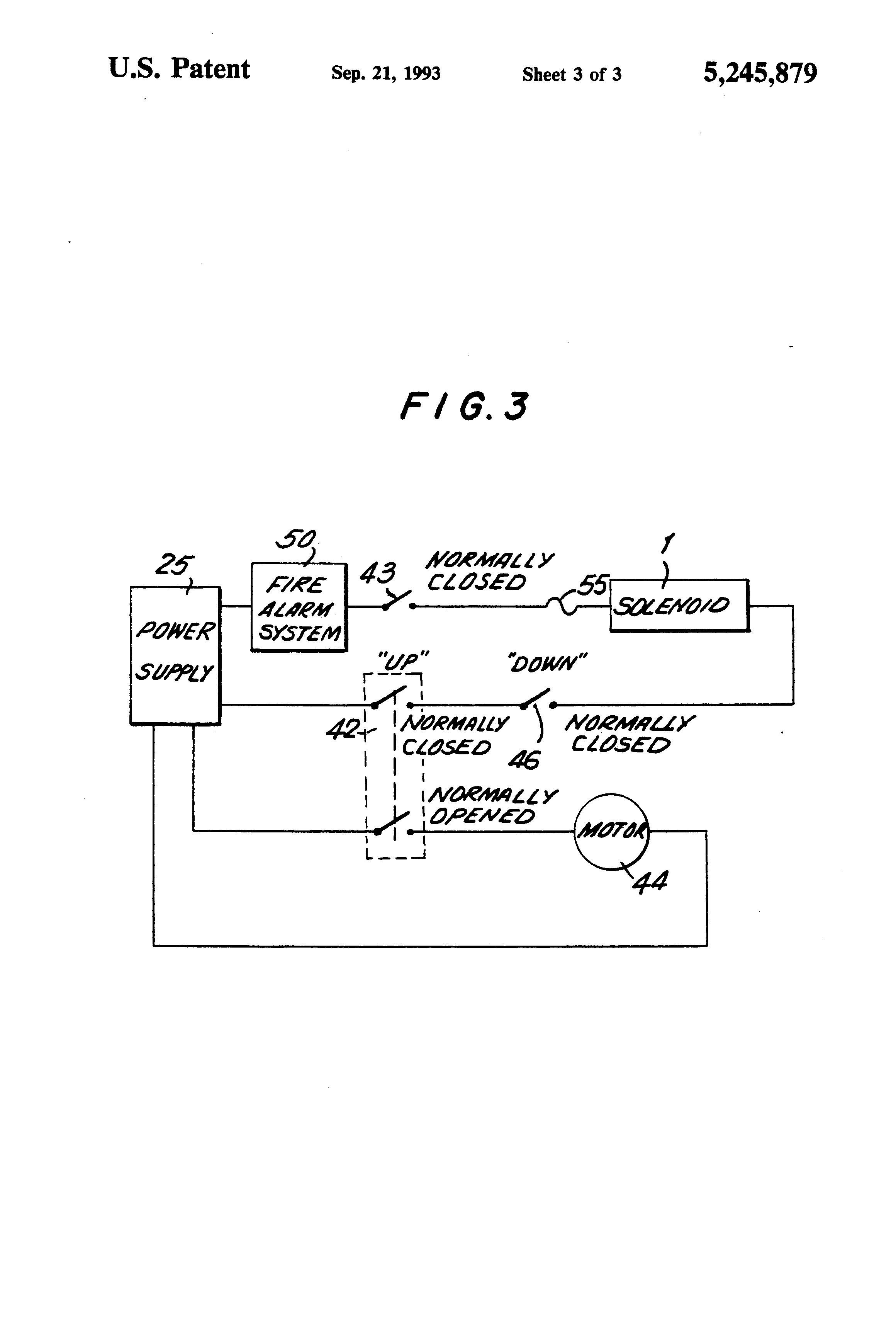 Patent Drawing  sc 1 st  Google & Patent US5245879 - Fail-safe fire door release mechanism having ... pezcame.com