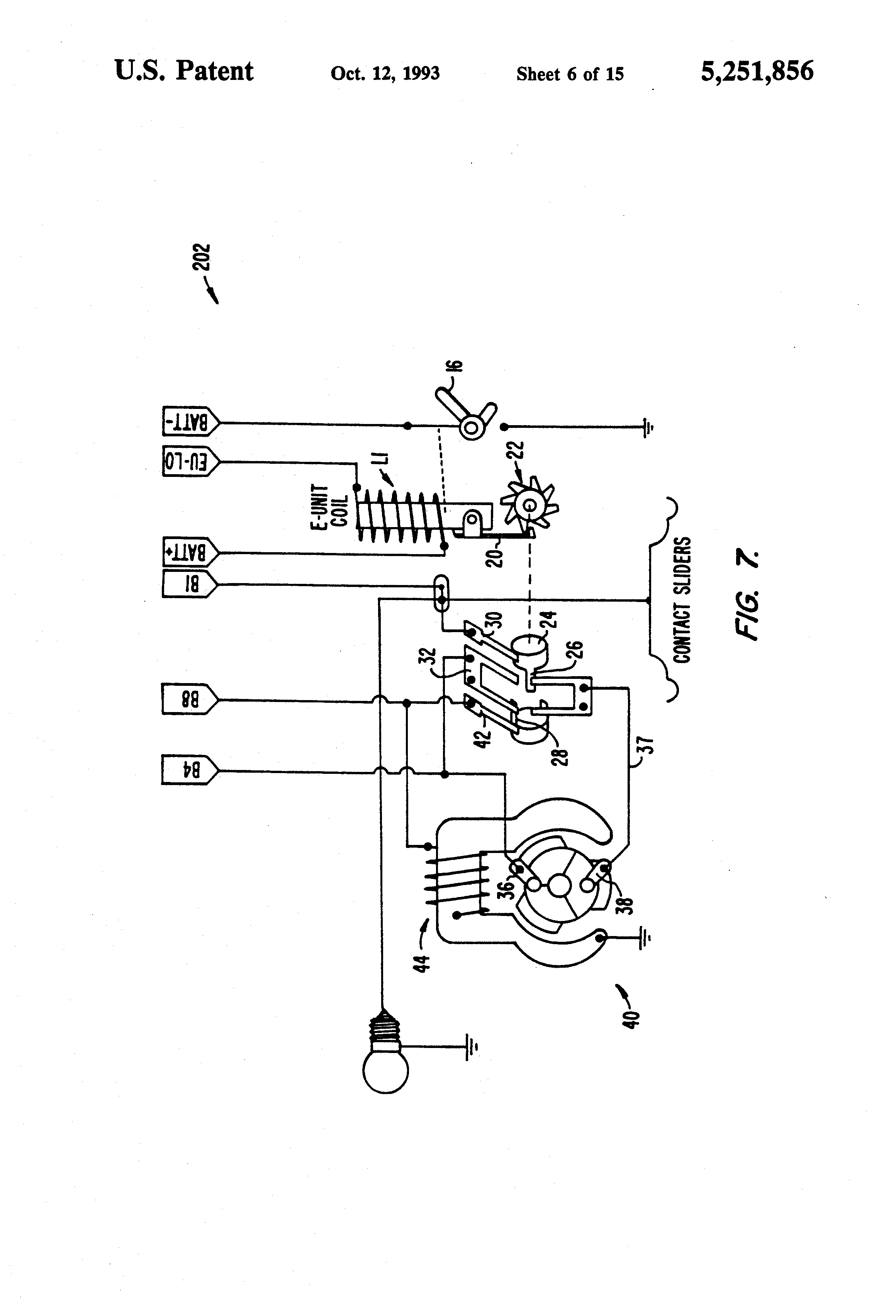 US5251856 6 patent us5251856 model train controller for reversing unit Simple Electrical Wiring Diagrams at soozxer.org