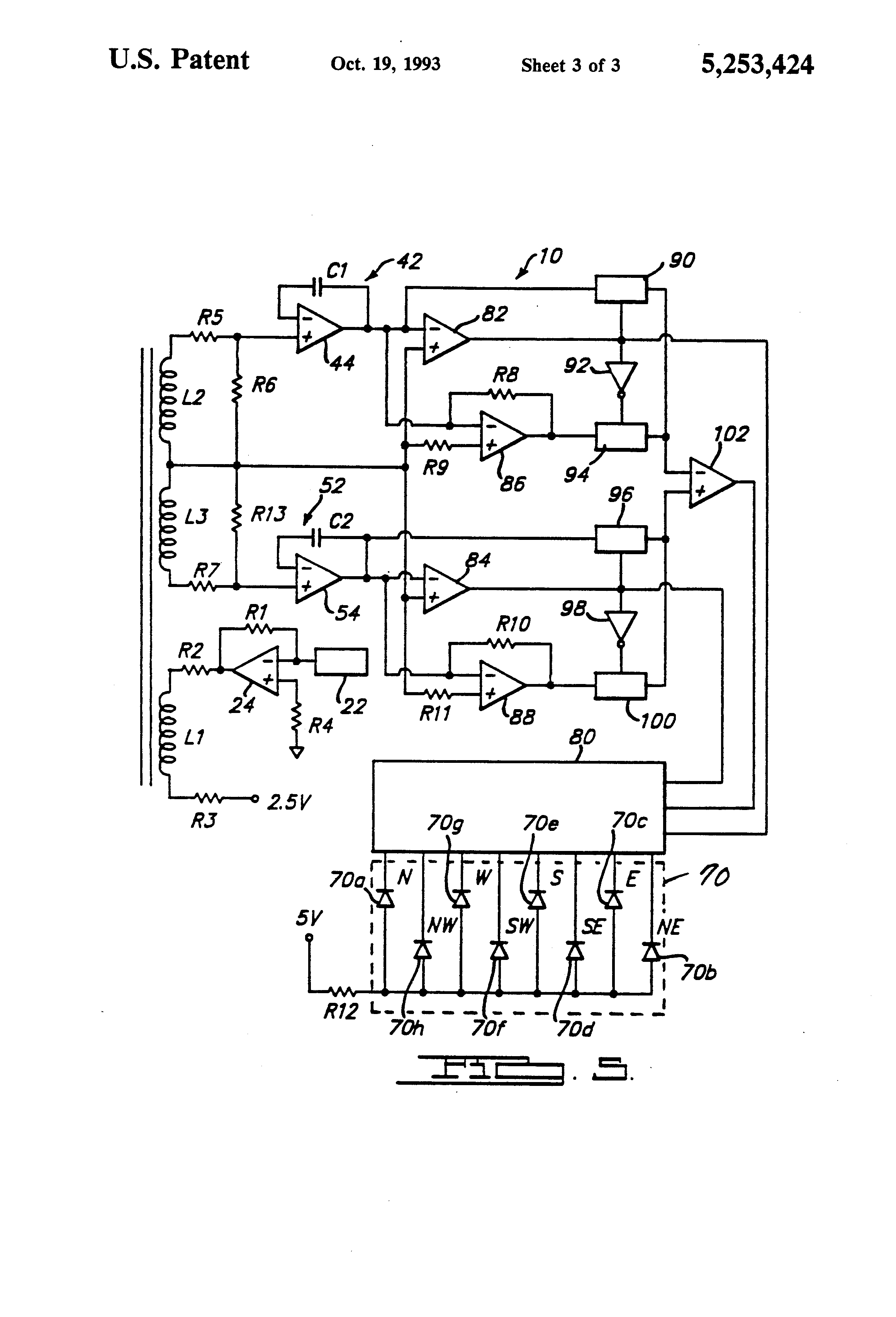 Patent Us5253424 Flux Gate Sensor Mounting And Method Google Small Scale Integrated Ssi Circuits Drawing