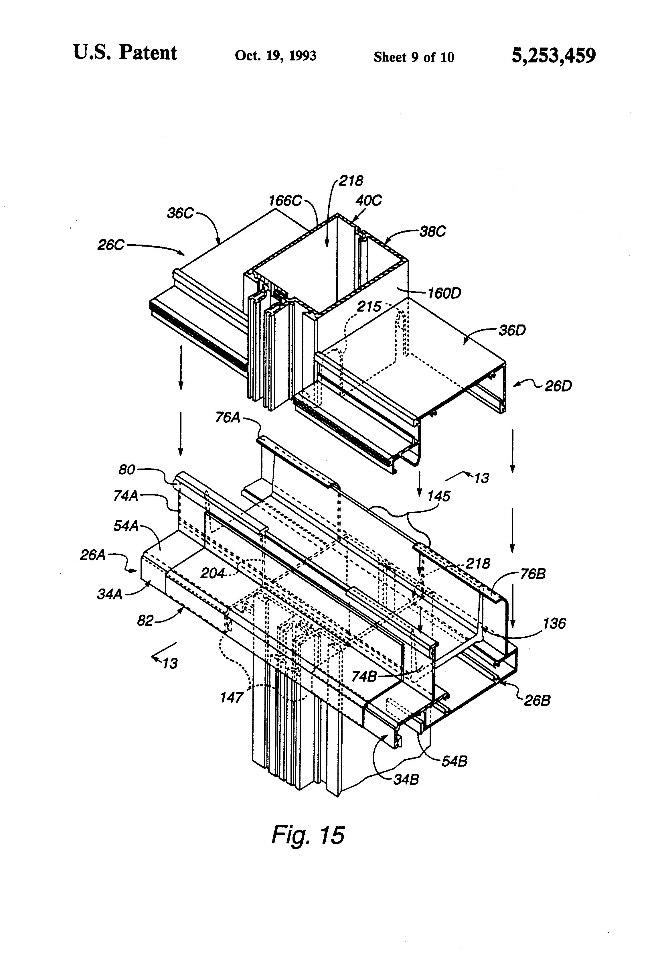 Curtain Wall Assembly : Patent us curtain wall structure google patents