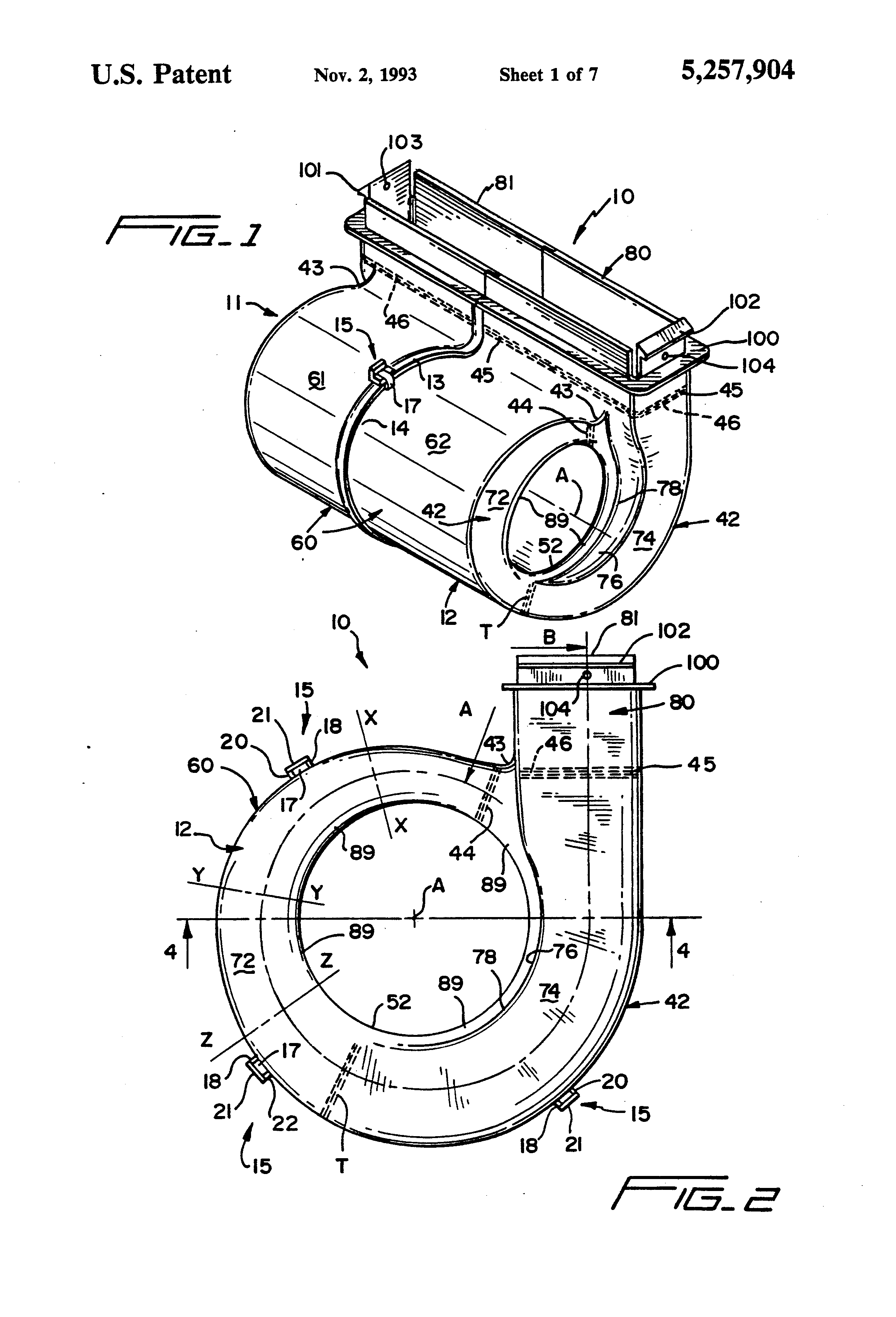 housing for a centrifugal fan blower or the like   Patents #383838