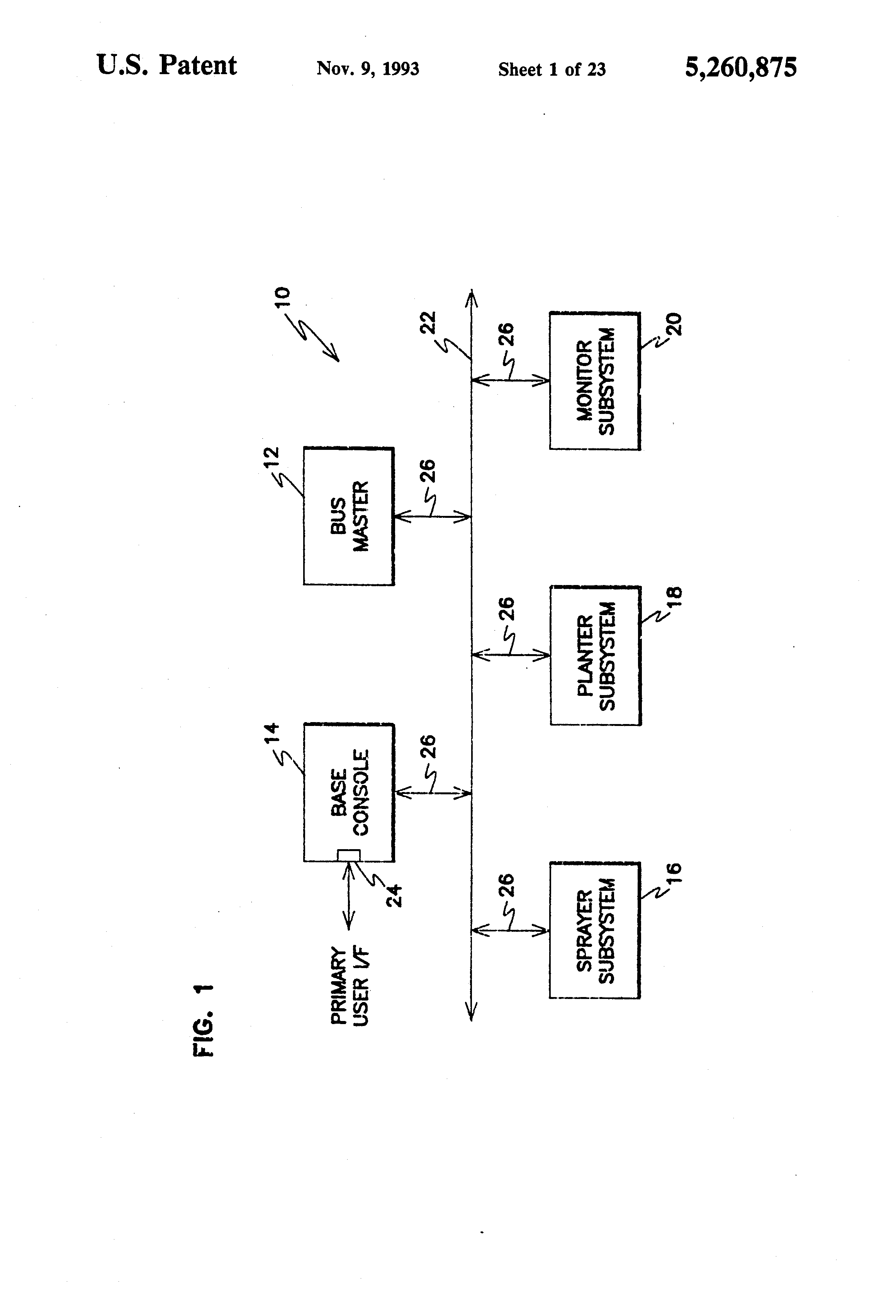 Patent Us5260875 Networked Agricultural Monitoring And Control Case Planter Wiring Diagram Drawing