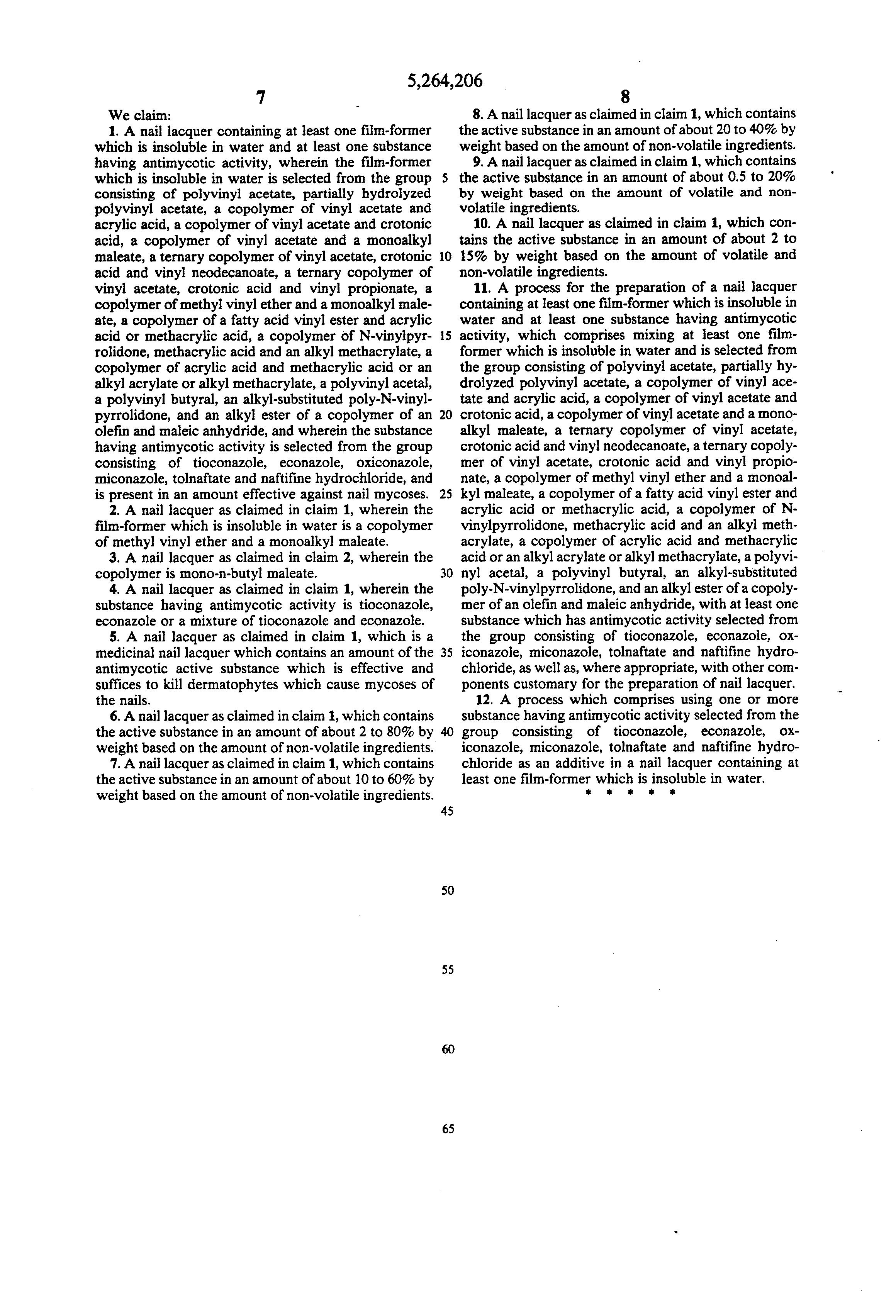 propionate lacquer