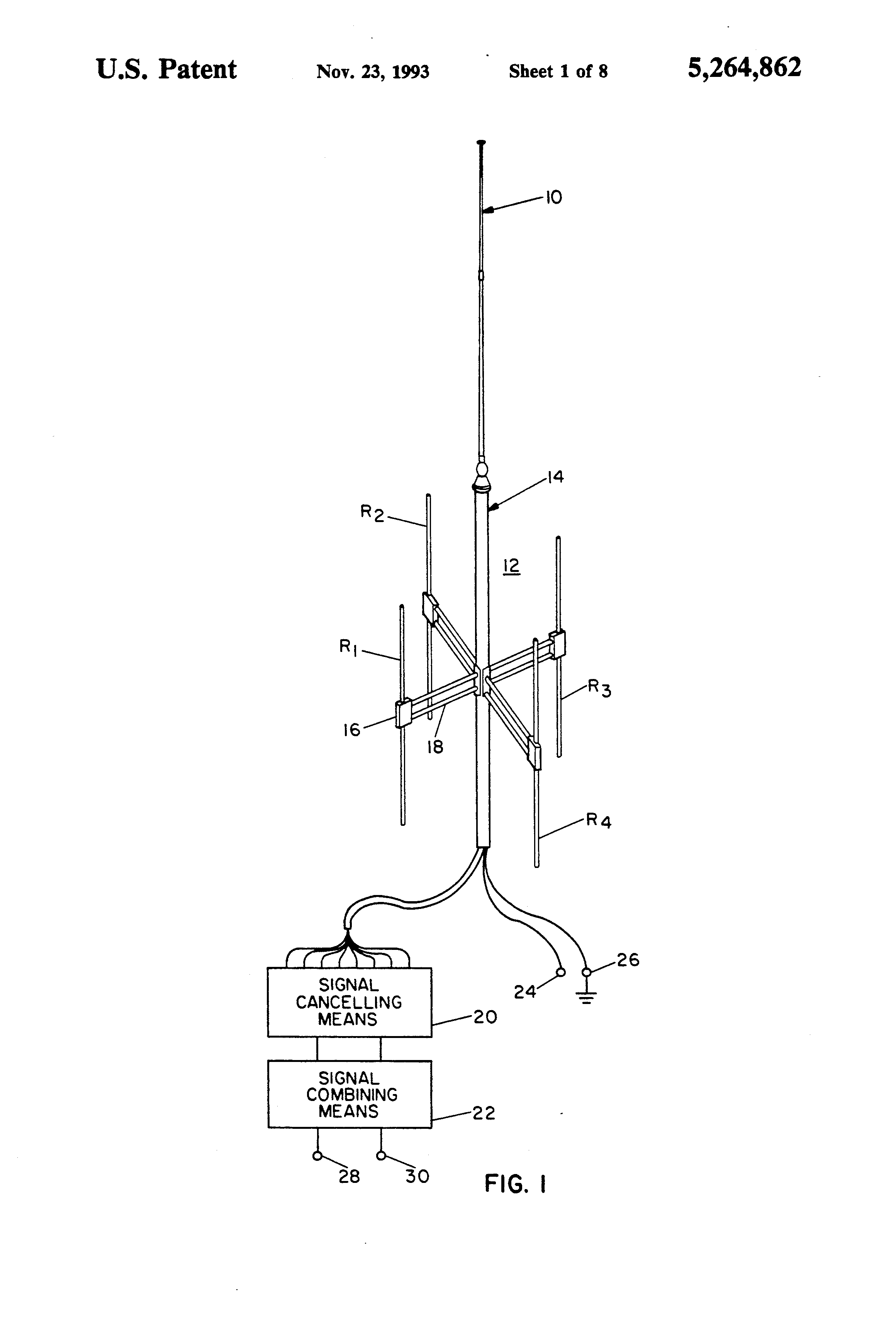 Patent Us5264862 High Isolation Collocated Antenna Systems Lr3 Engine Diagram Drawing